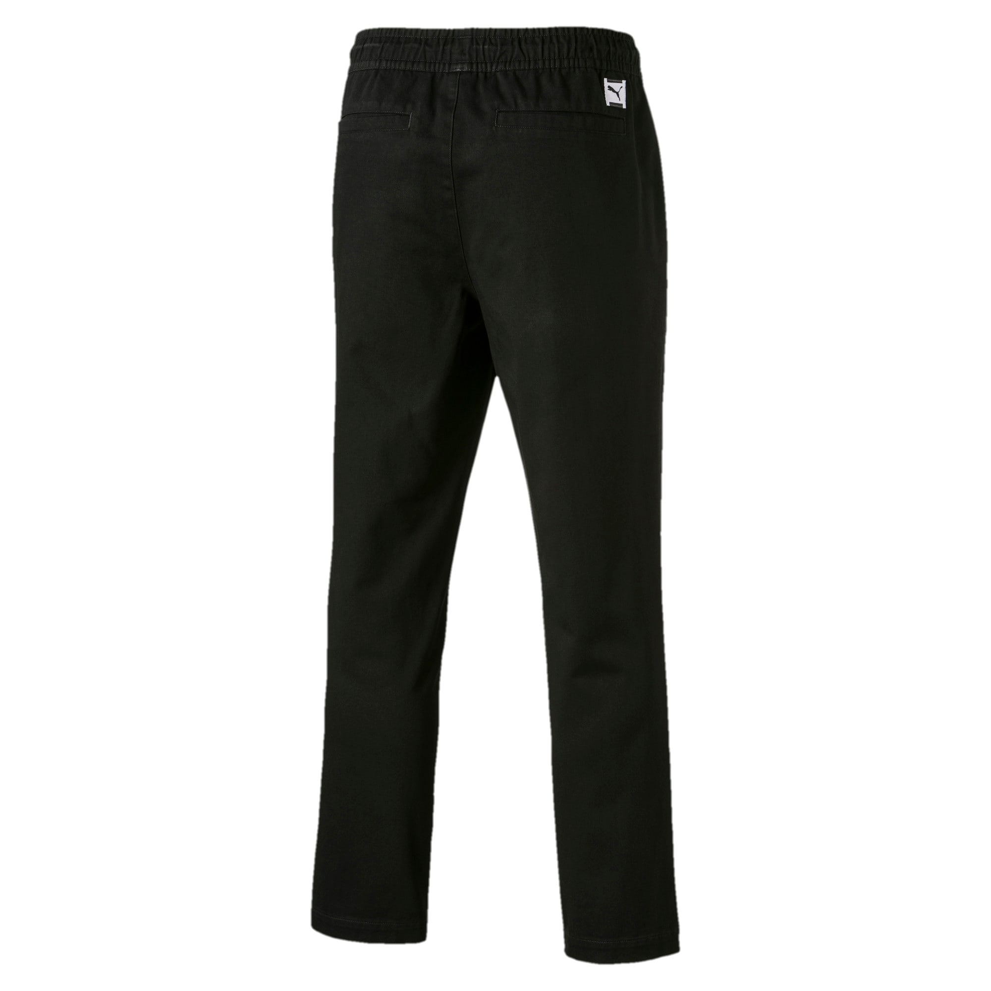 Thumbnail 5 of Downtown Twill Knitted Men's Sweatpants, Cotton Black, medium-IND