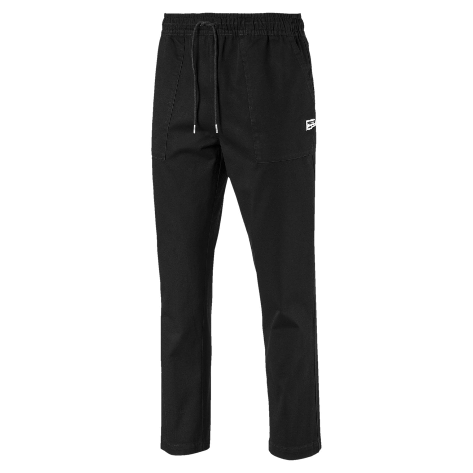 Thumbnail 4 of Downtown Twill Knitted Men's Sweatpants, Cotton Black, medium-IND