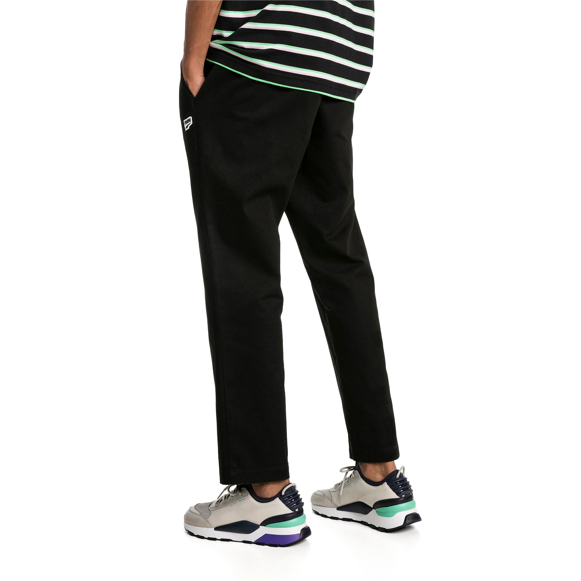Thumbnail 2 of Downtown Twill Knitted Men's Sweatpants, Cotton Black, medium-IND