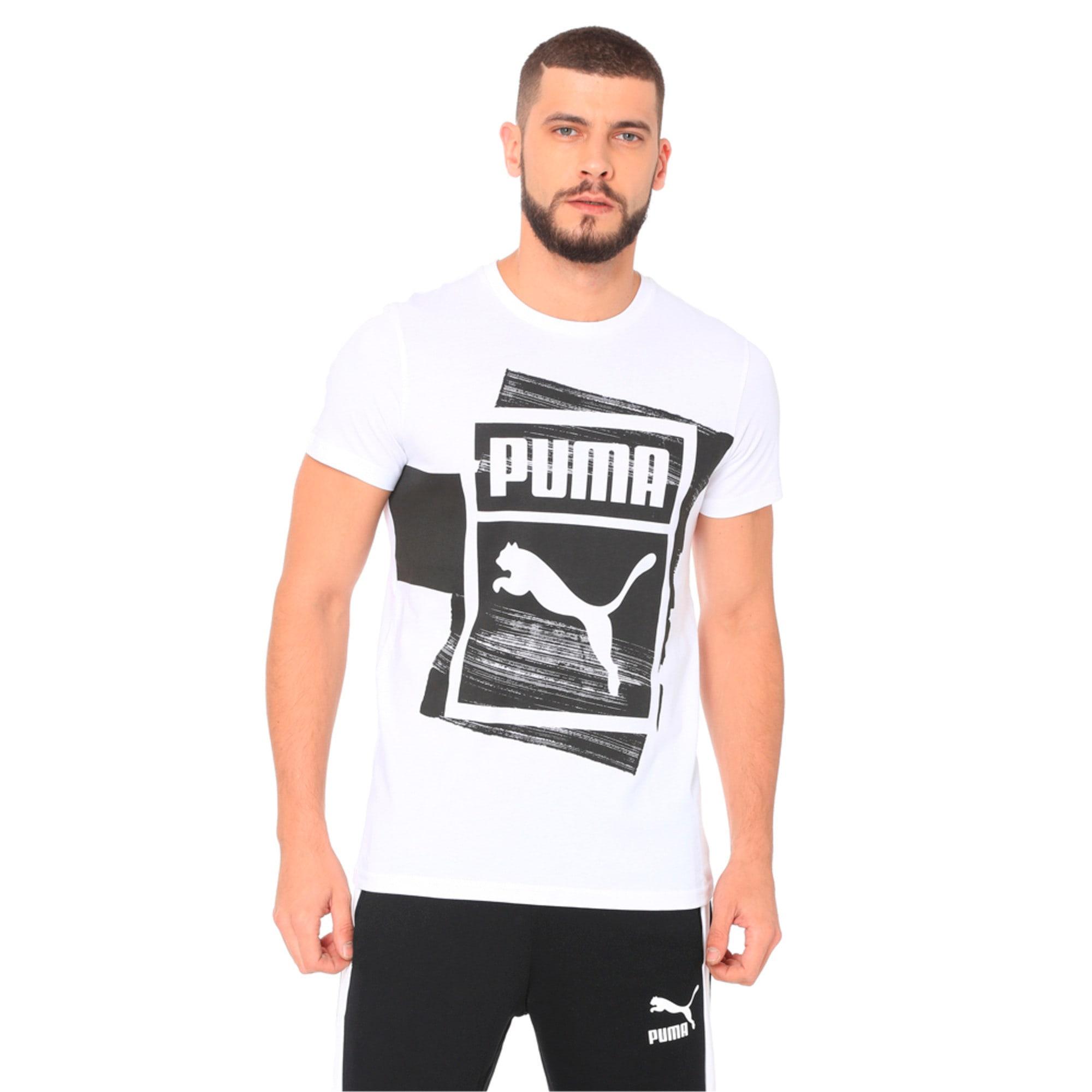 Thumbnail 3 of Graphic Brand Box Tee, Puma White, medium-IND
