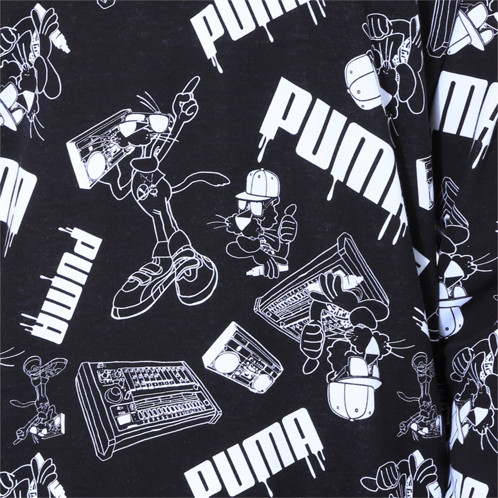 Thumbnail 6 of Super Puma Crew AOP SOUND, Puma Black, medium-IND