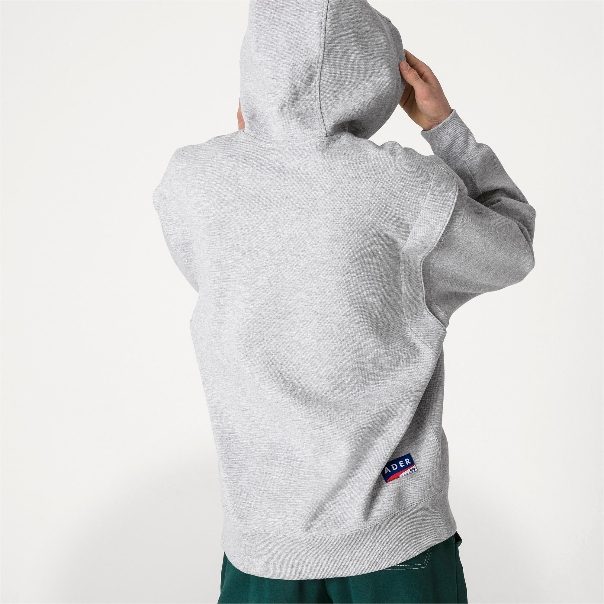 Thumbnail 3 of PUMA x ADER ERROR hoodie, Light Gray Heather, medium