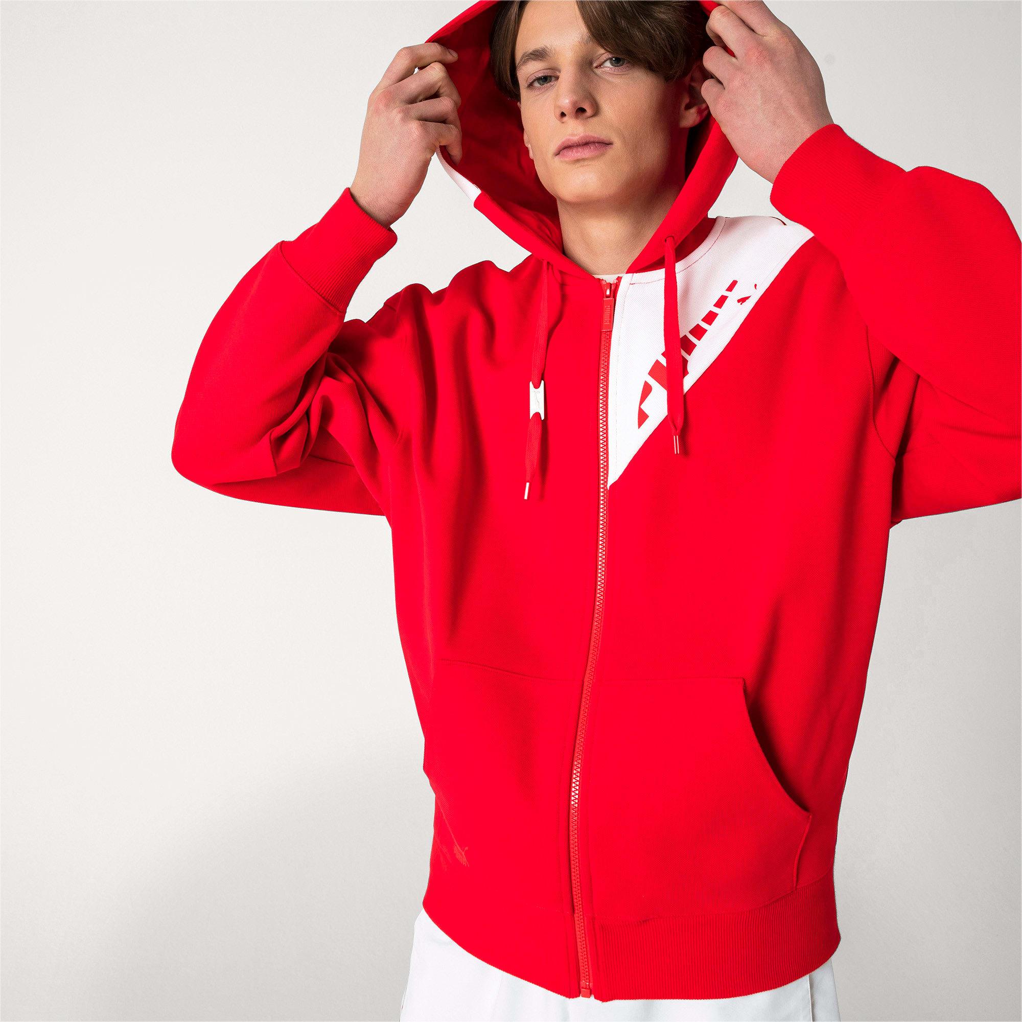 Thumbnail 2 van PUMA x ADER ERROR hoodie met rits, Puma Red, medium