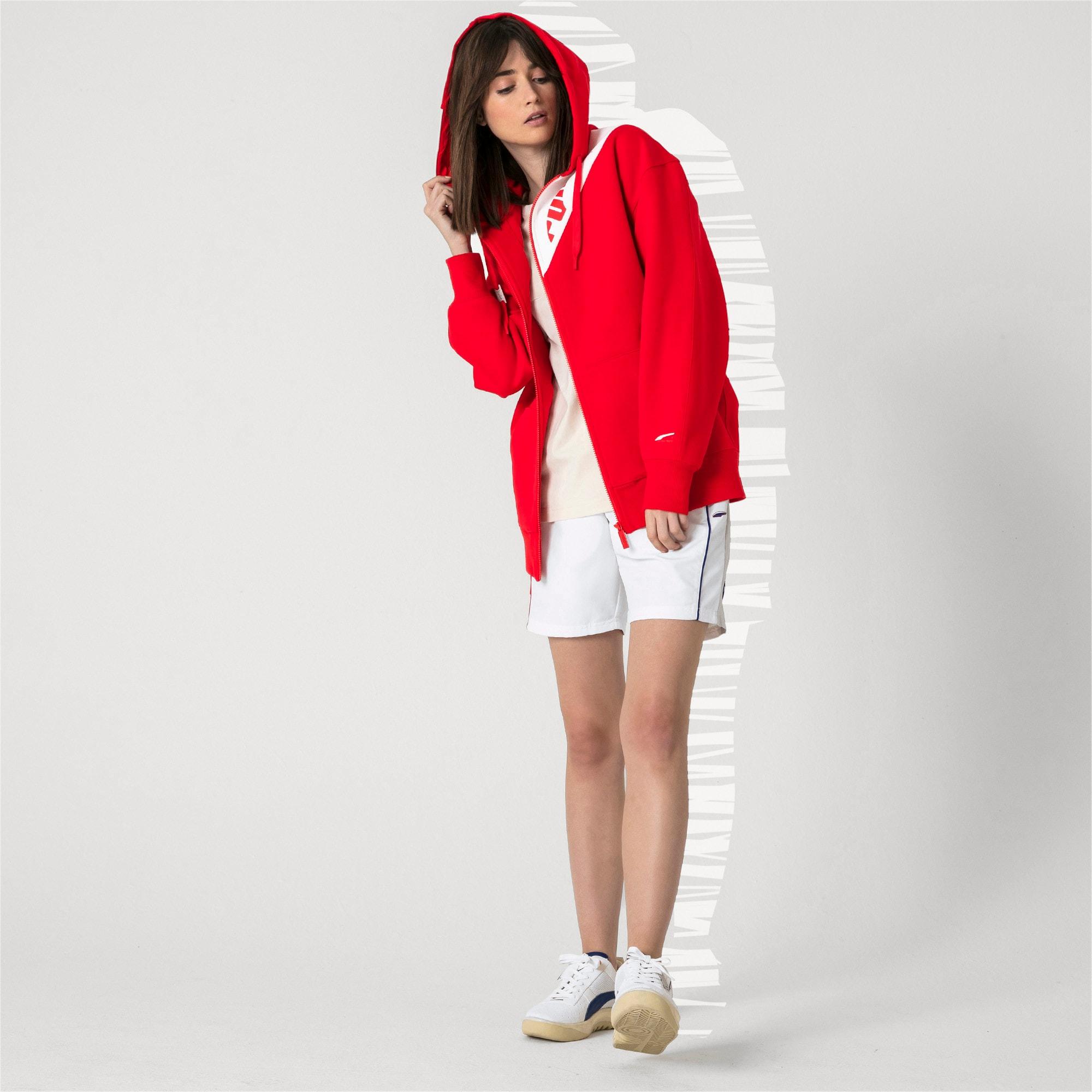 Thumbnail 8 van PUMA x ADER ERROR hoodie met rits, Puma Red, medium