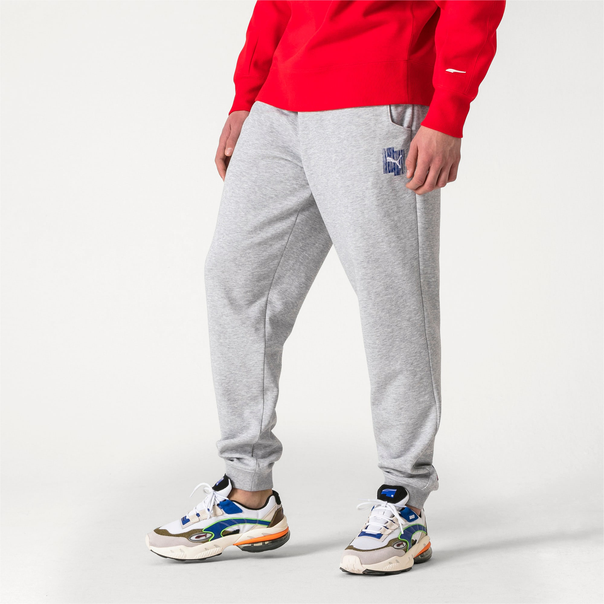 Thumbnail 2 of PUMA x ADER ERROR Strick Sweatpants, Light Gray Heather, medium