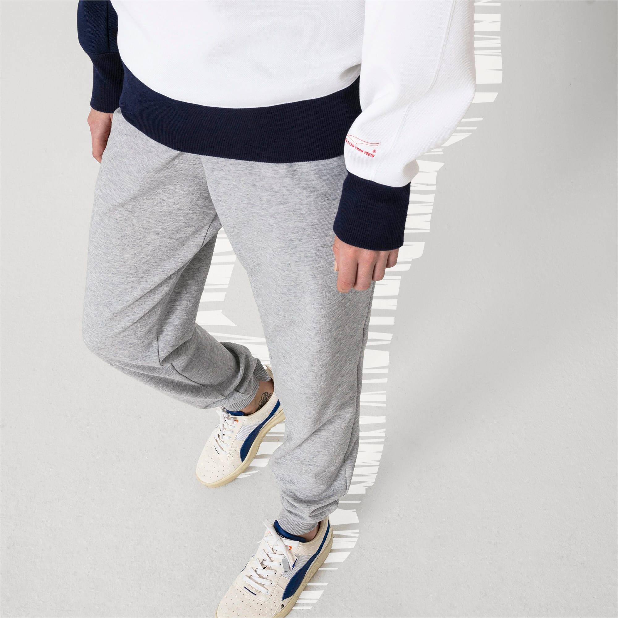 Thumbnail 6 of PUMA x ADER ERROR Strick Sweatpants, Light Gray Heather, medium