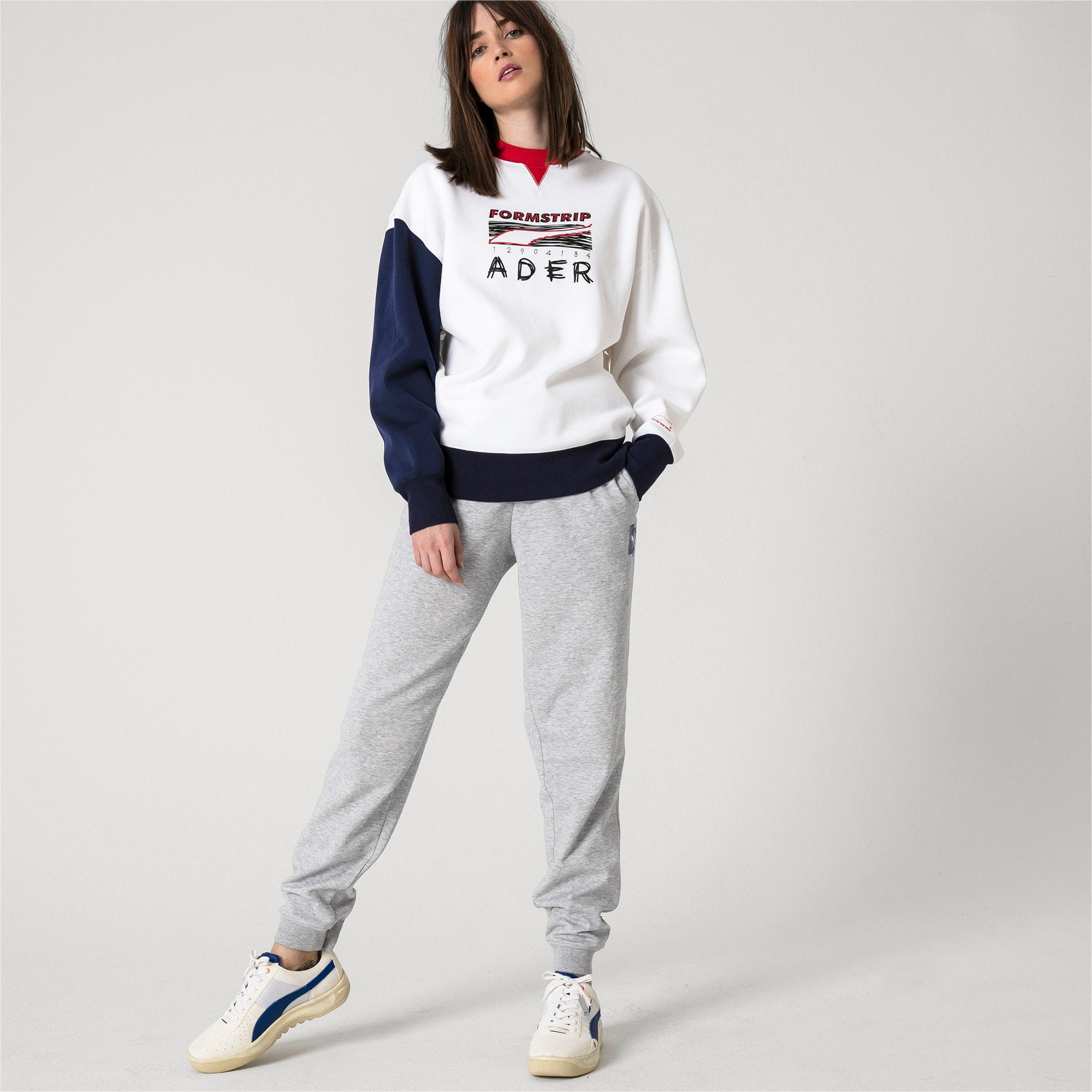 Thumbnail 8 of PUMA x ADER ERROR Strick Sweatpants, Light Gray Heather, medium