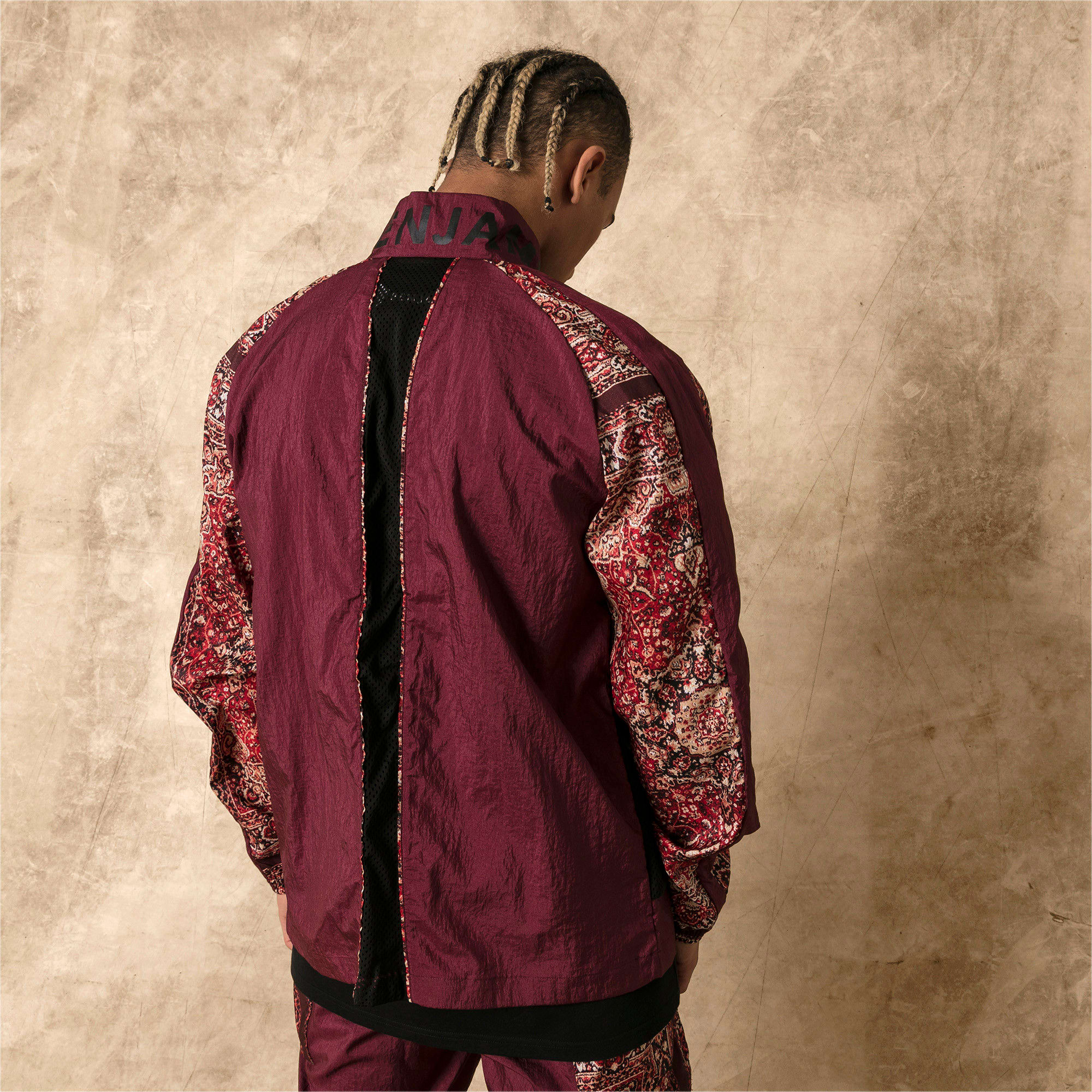 Thumbnail 3 of PUMA x LES BENJAMINS Men's Track Jacket, Burgundy, medium
