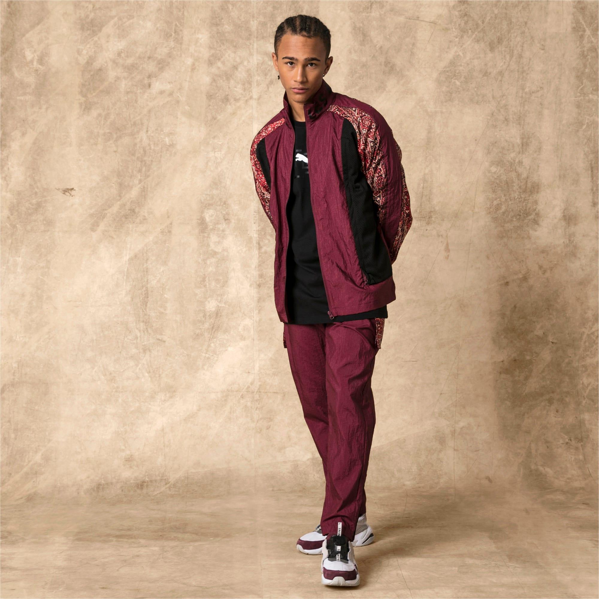 Thumbnail 5 of PUMA x LES BENJAMINS Men's Track Jacket, Burgundy, medium