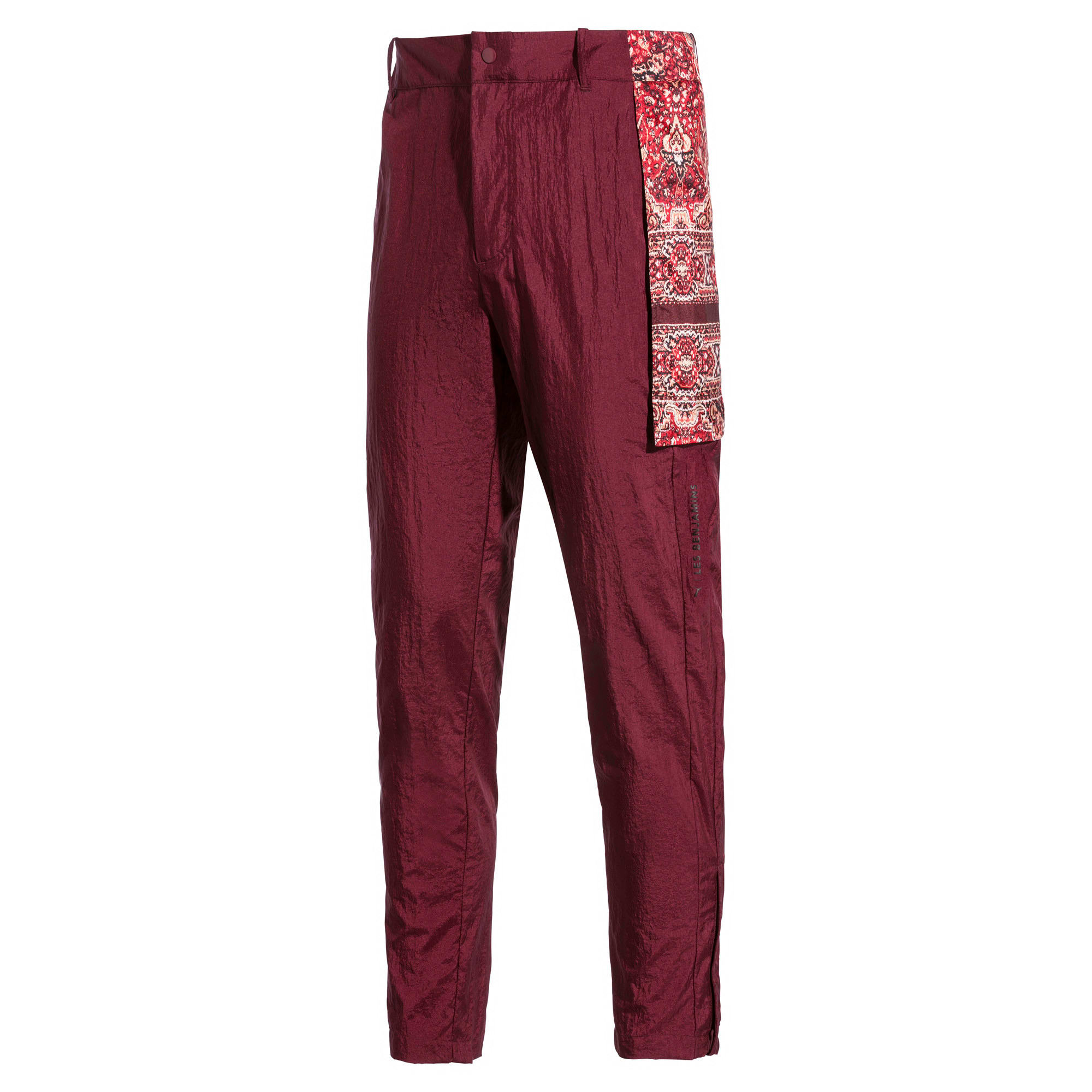 Thumbnail 5 of PUMA x LES BENJAMINS trainingsbroek voor heren, Burgundy, medium
