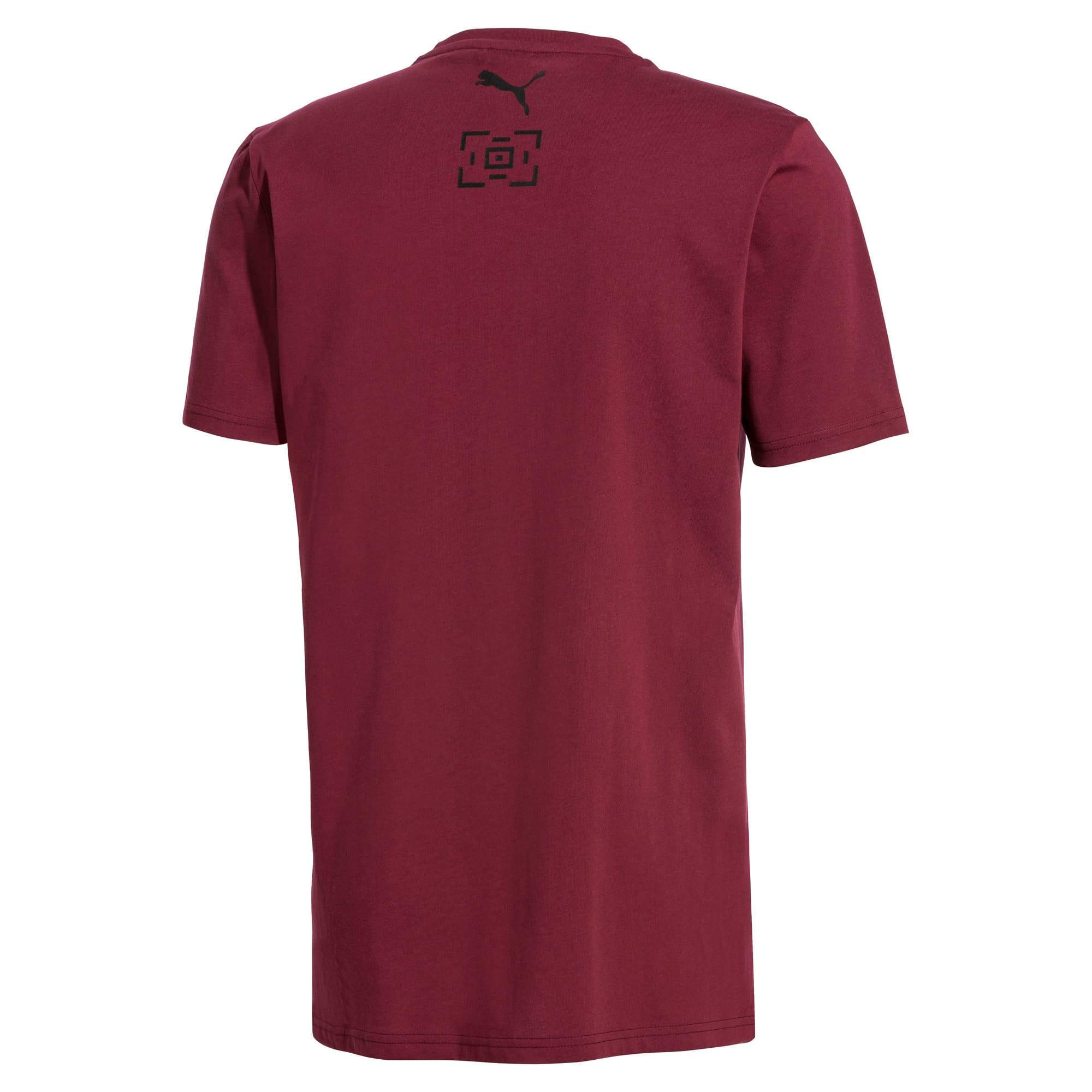 Thumbnail 3 van PUMA x LES BENJAMINS T-shirt voor mannen, Bordeauxrood, medium
