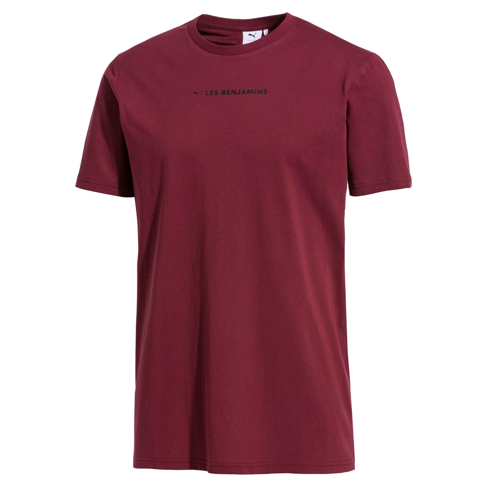 Thumbnail 1 van PUMA x LES BENJAMINS T-shirt voor mannen, Bordeauxrood, medium