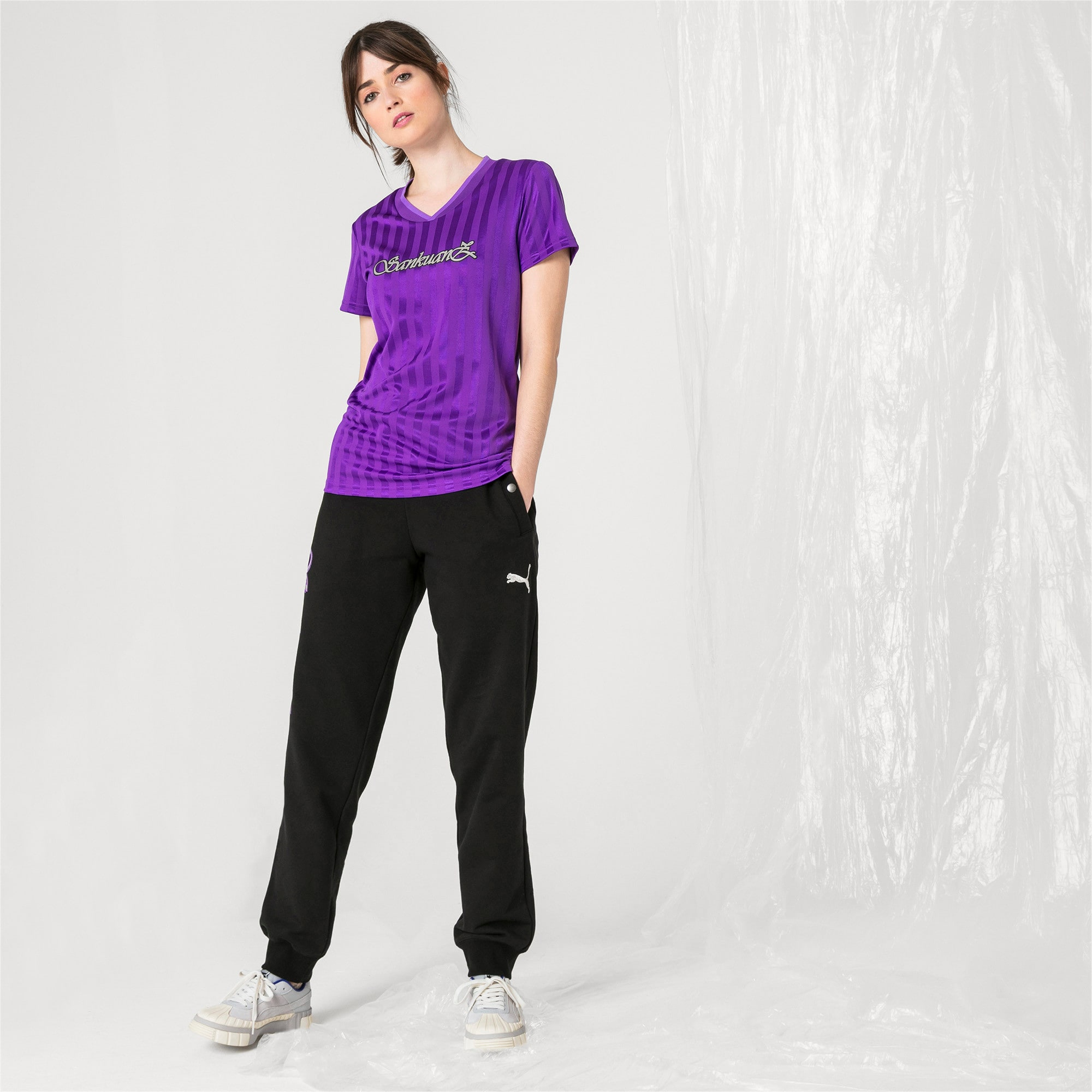 Thumbnail 5 of PUMA x SANKUANZ Women's Jersey Tee, ELECTRIC PURPLE, medium