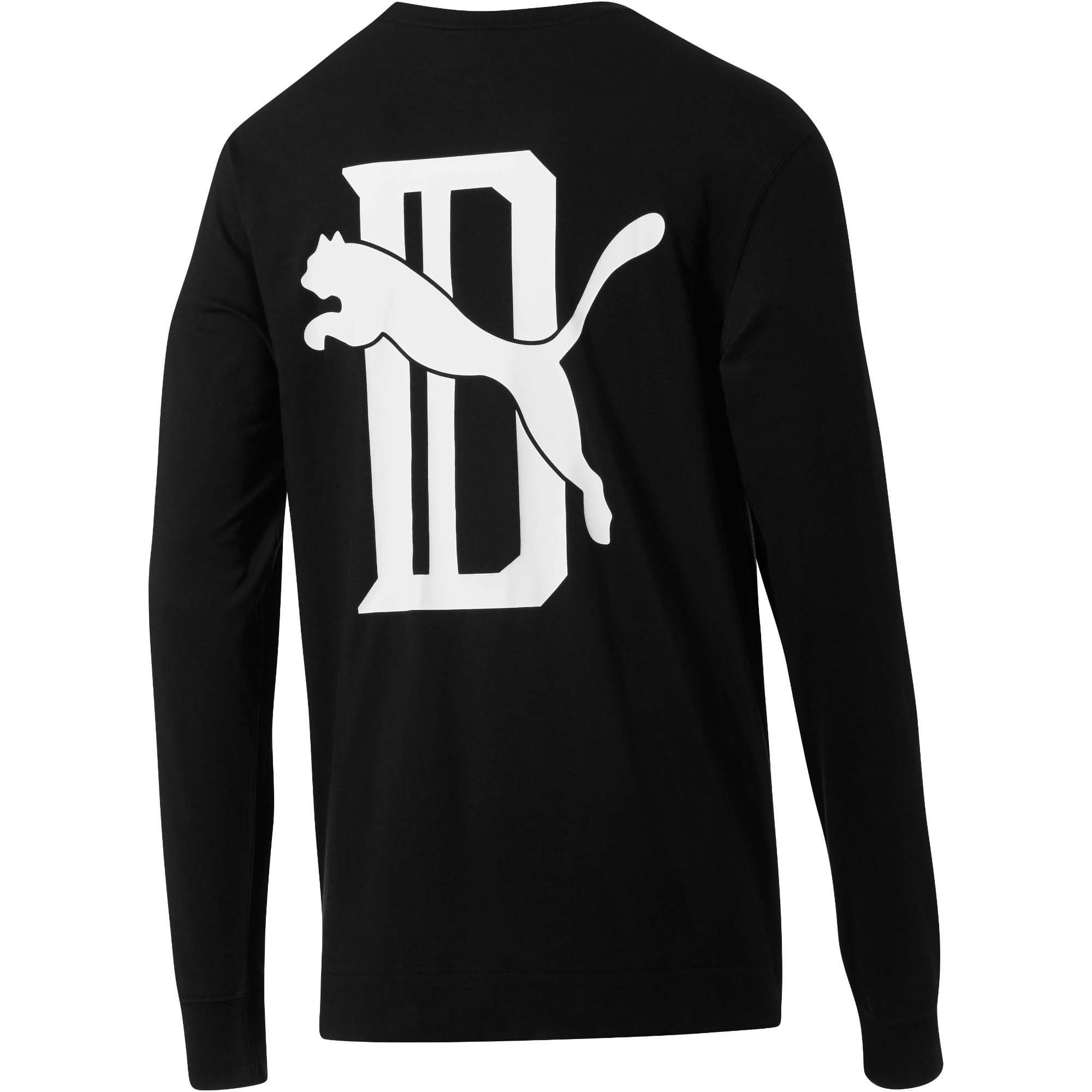 Thumbnail 2 of PUMA x Big Sean Logo Long Sleeve Shirt, Puma Black, medium