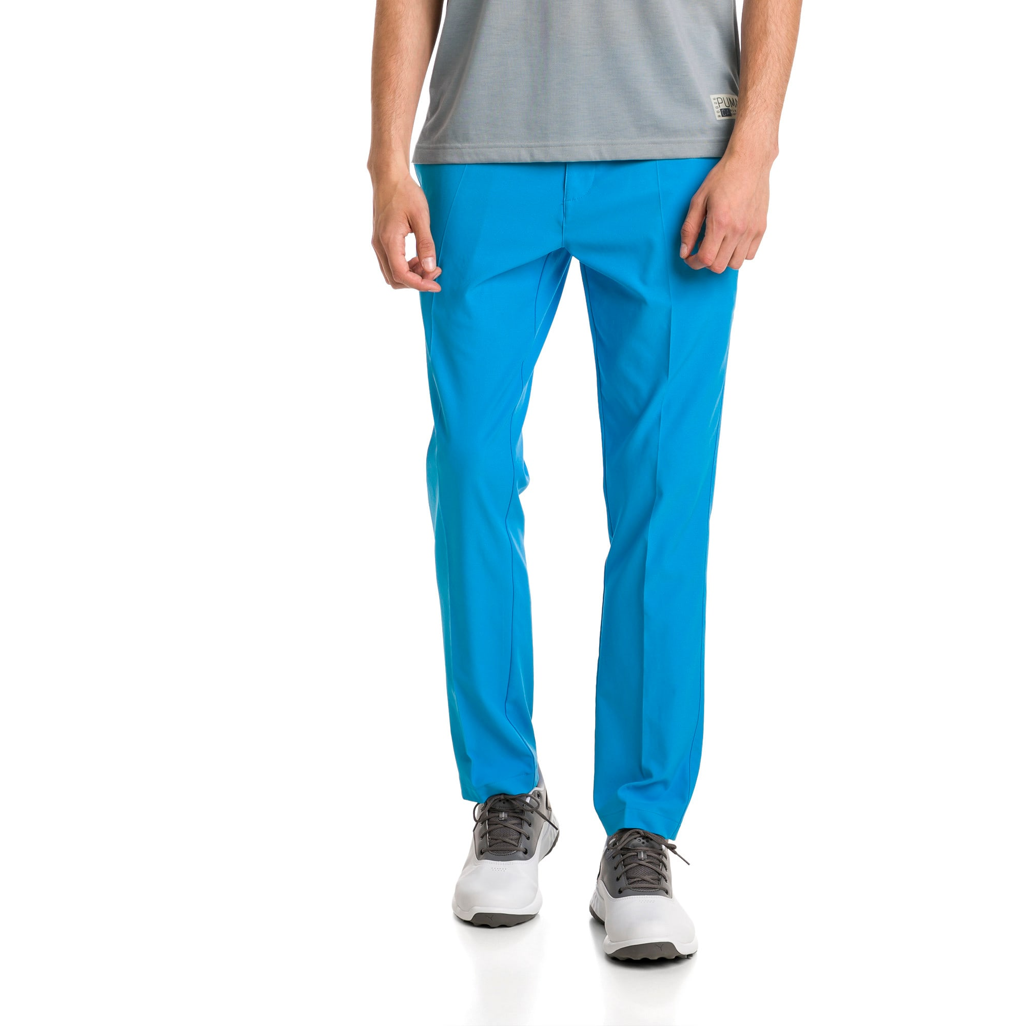 Thumbnail 1 of Afkledende geweven Jackpot golfbroek voor heren, Bleu Azur, medium