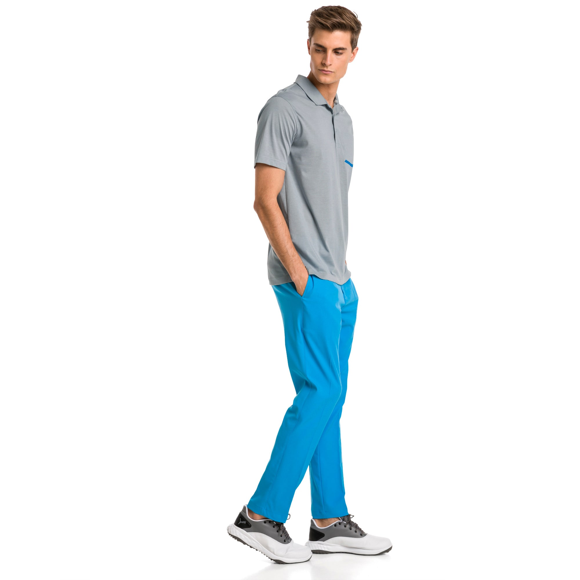 Thumbnail 3 of Afkledende geweven Jackpot golfbroek voor heren, Bleu Azur, medium