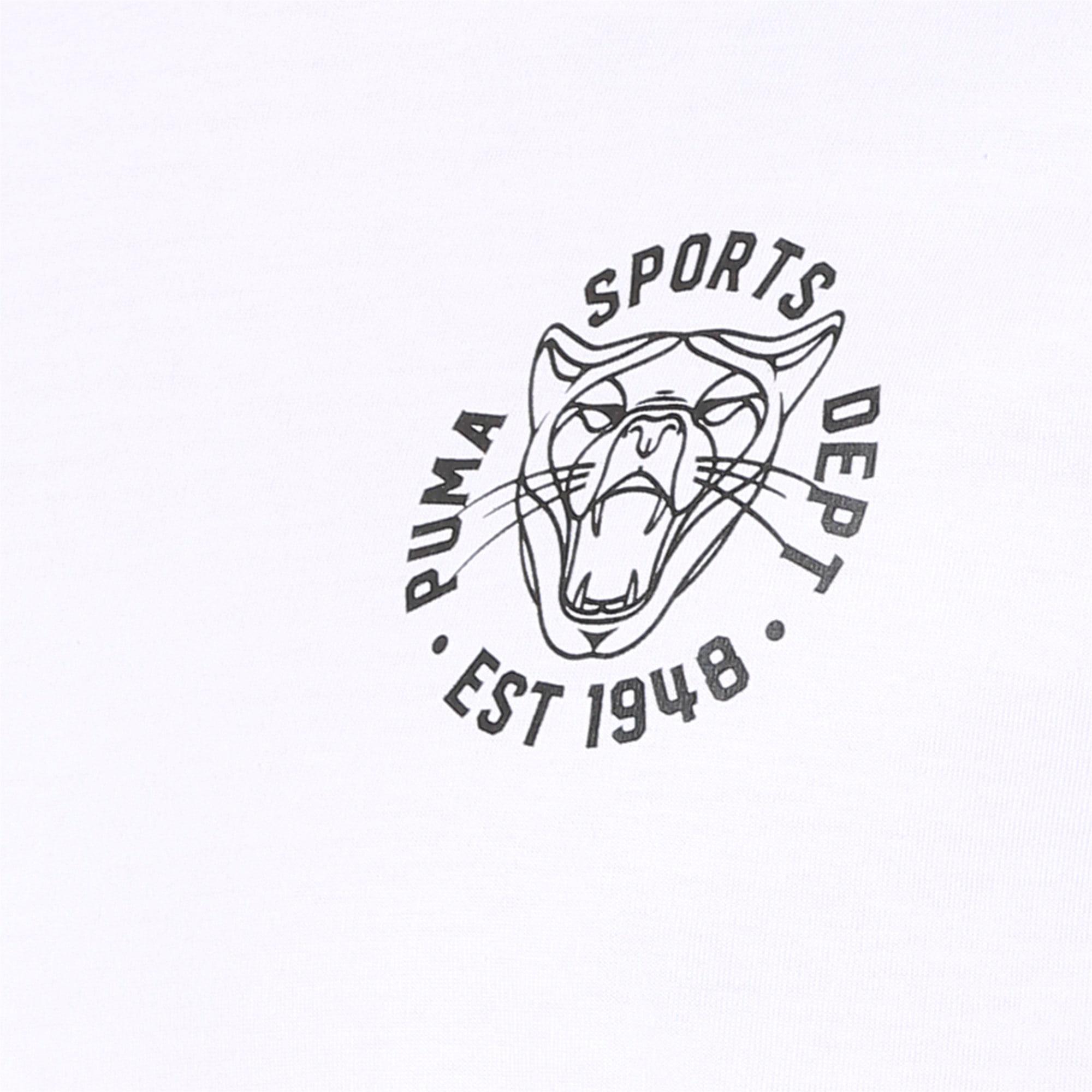 Thumbnail 6 of Graphic Vintage Cat Tee, Puma White, medium-IND