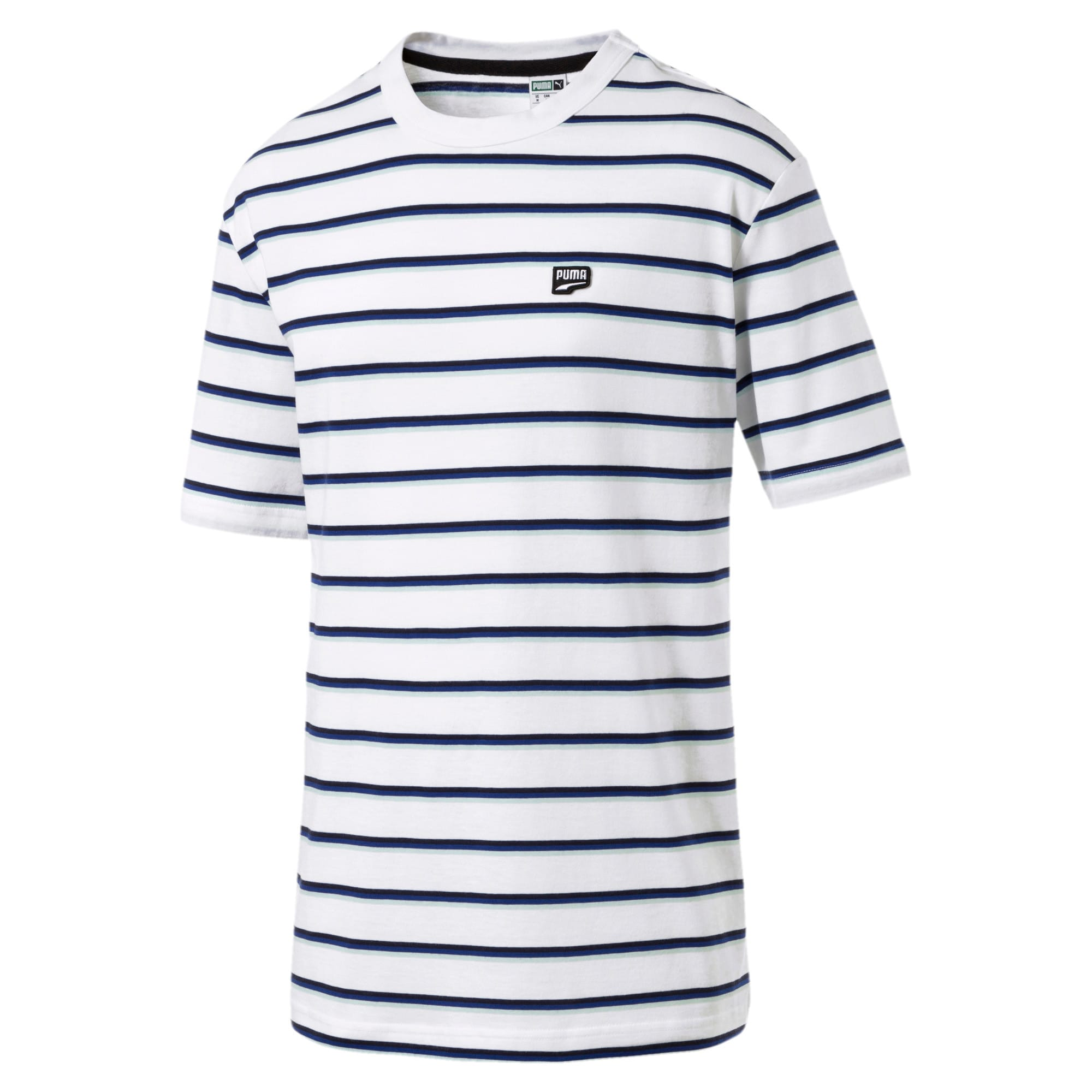 Thumbnail 4 of Downtown Stripe Men's Tee, Puma White, medium-IND