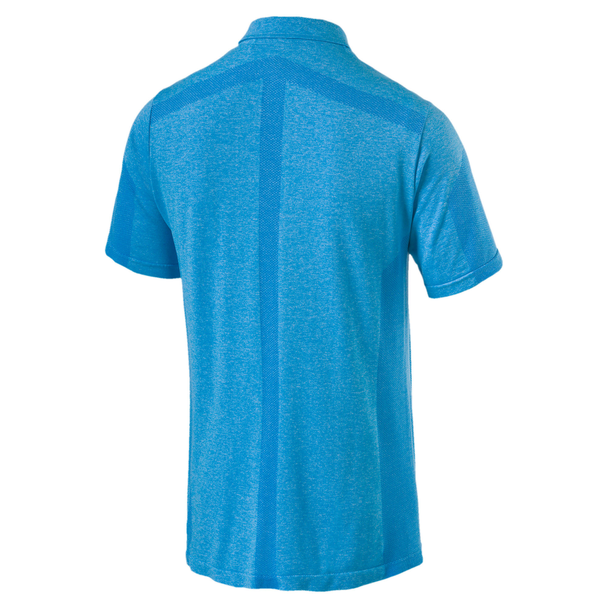 Thumbnail 5 of evoKNIT Breakers Herren Golf Polo, Bleu Azur Heather, medium