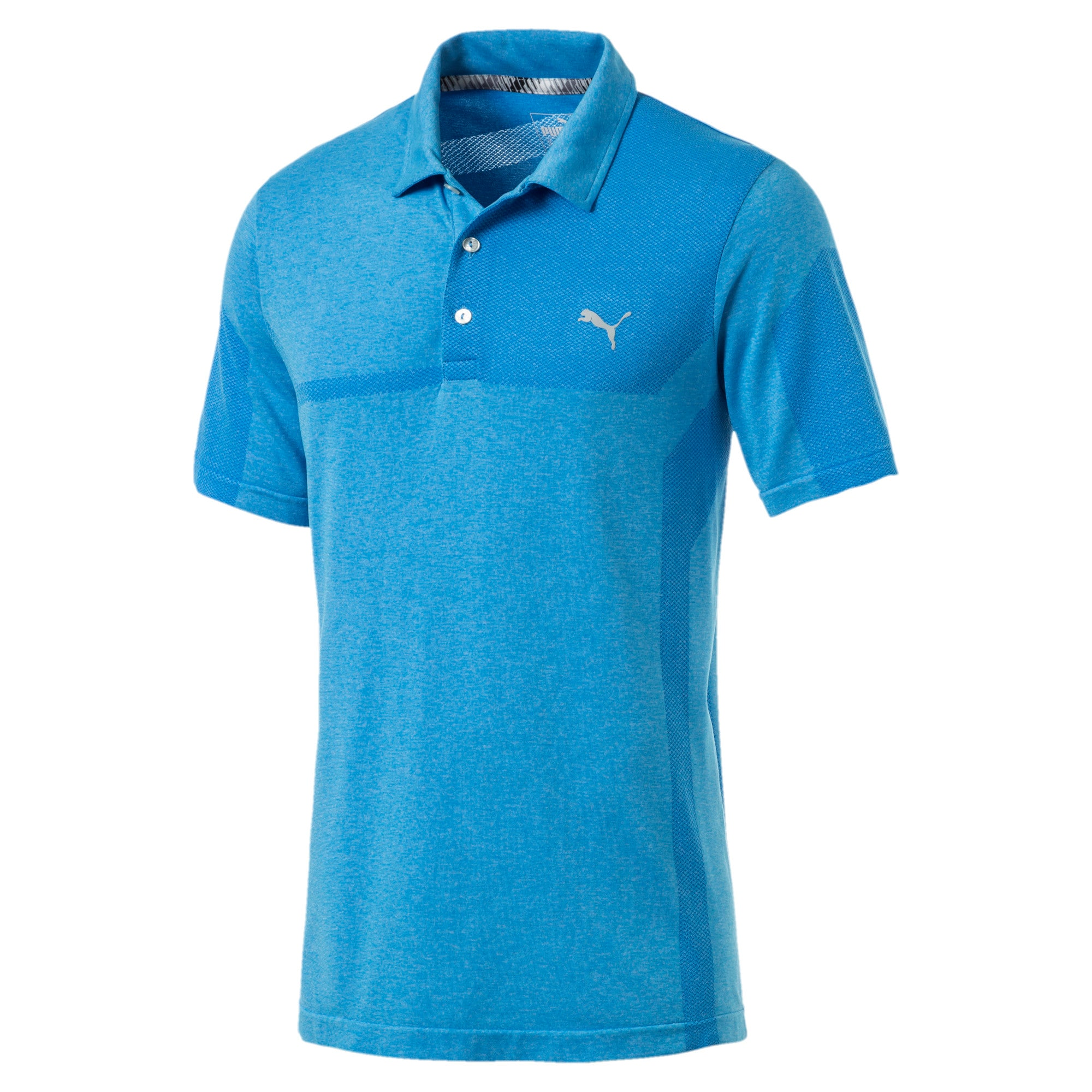 Thumbnail 4 of evoKNIT Breakers Herren Golf Polo, Bleu Azur Heather, medium