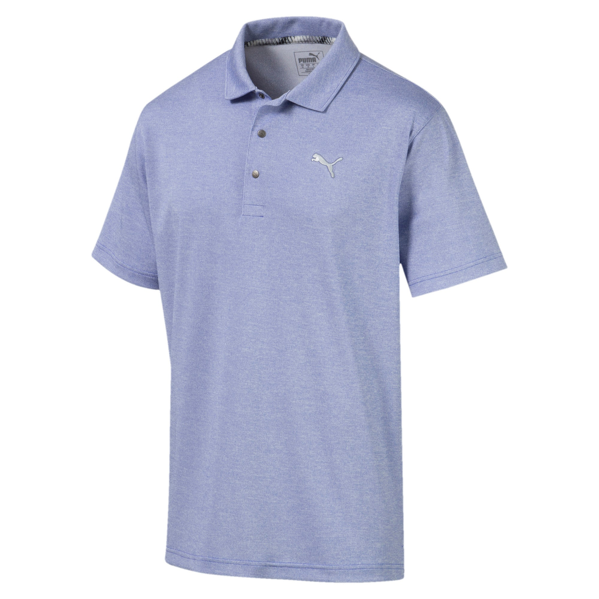Thumbnail 4 of Grill to Green Men's Golf Polo, Dazzling Blue Heather, medium