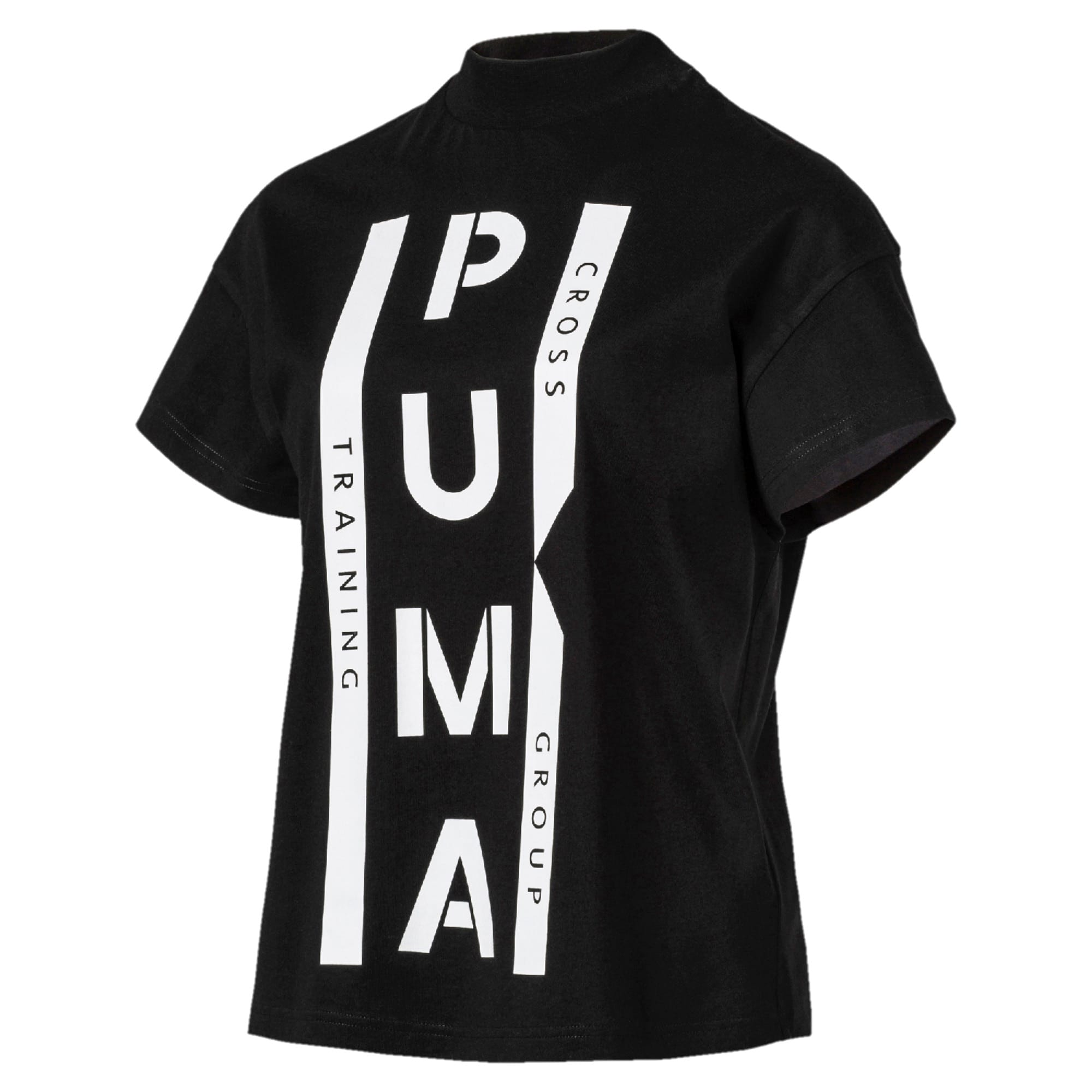 Thumbnail 1 of PUMA XTG グラフィック ウィメンズ SS Tシャツ 半袖, Cotton Black, medium-JPN