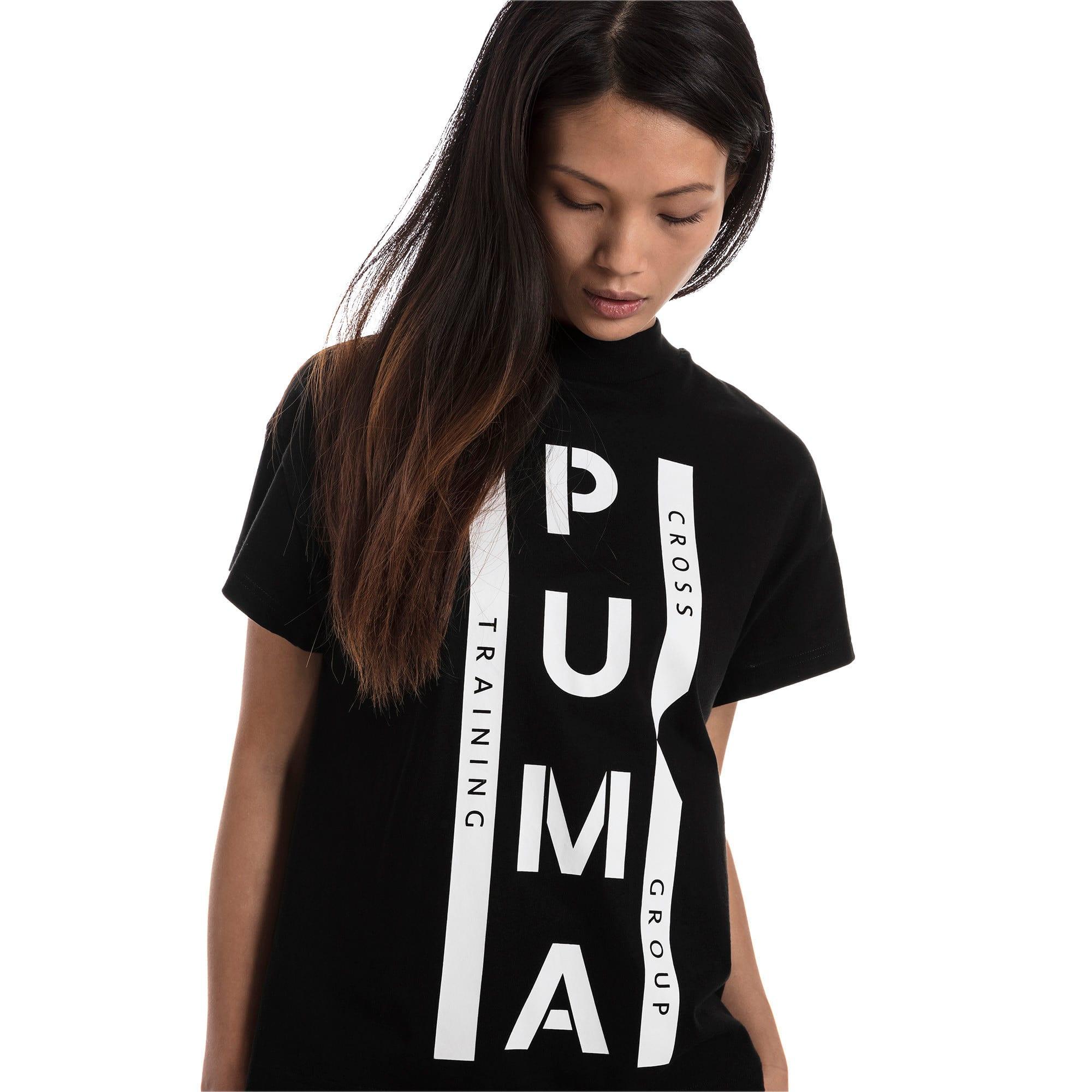 Thumbnail 2 of PUMA XTG グラフィック ウィメンズ SS Tシャツ 半袖, Cotton Black, medium-JPN