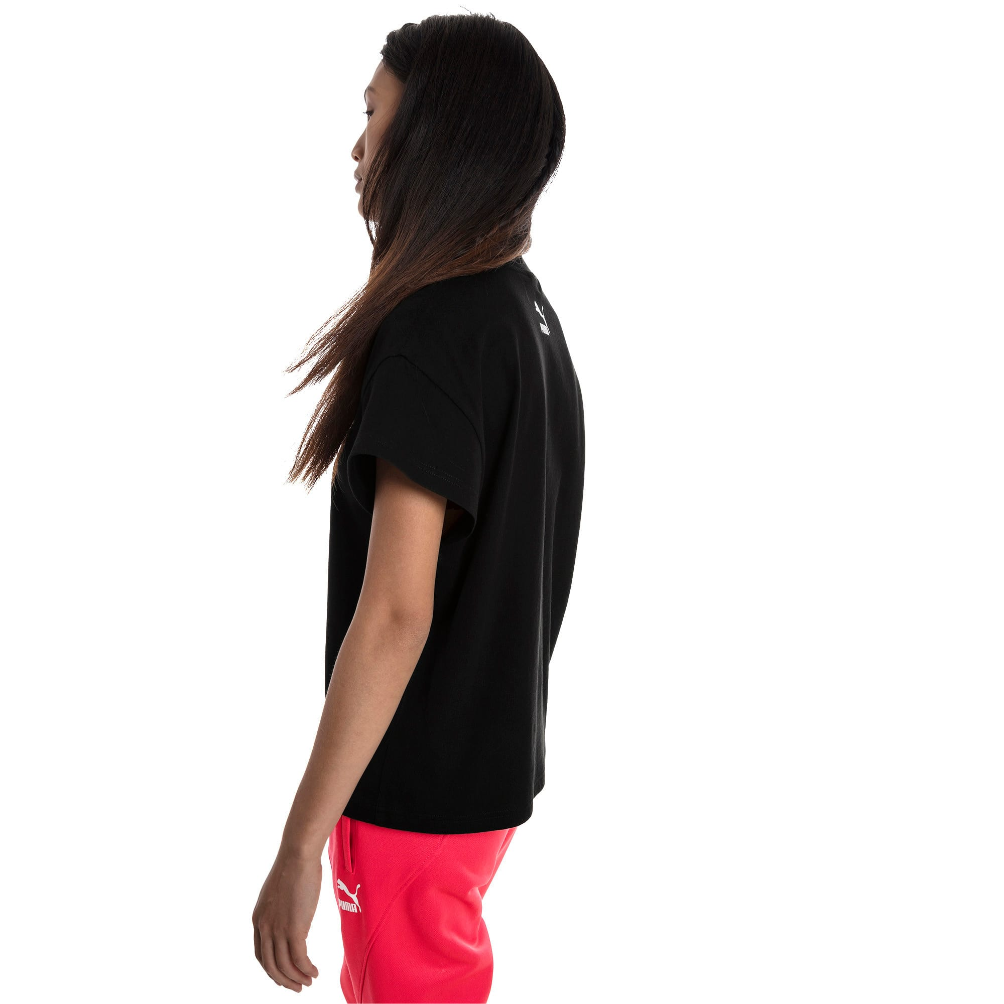 Thumbnail 3 of PUMA XTG グラフィック ウィメンズ SS Tシャツ 半袖, Cotton Black, medium-JPN