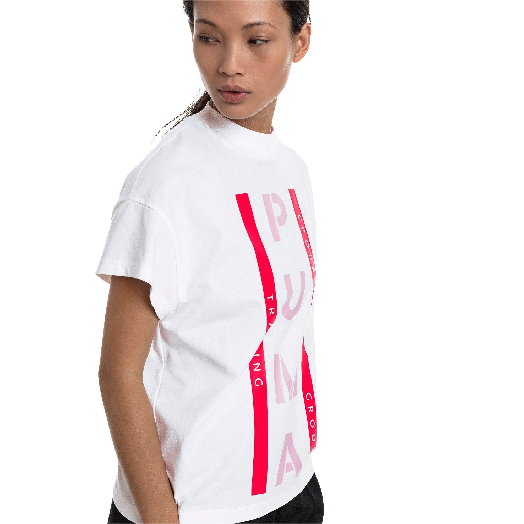 Thumbnail 2 of PUMA XTG グラフィック ウィメンズ SS Tシャツ 半袖, Puma White, medium-JPN