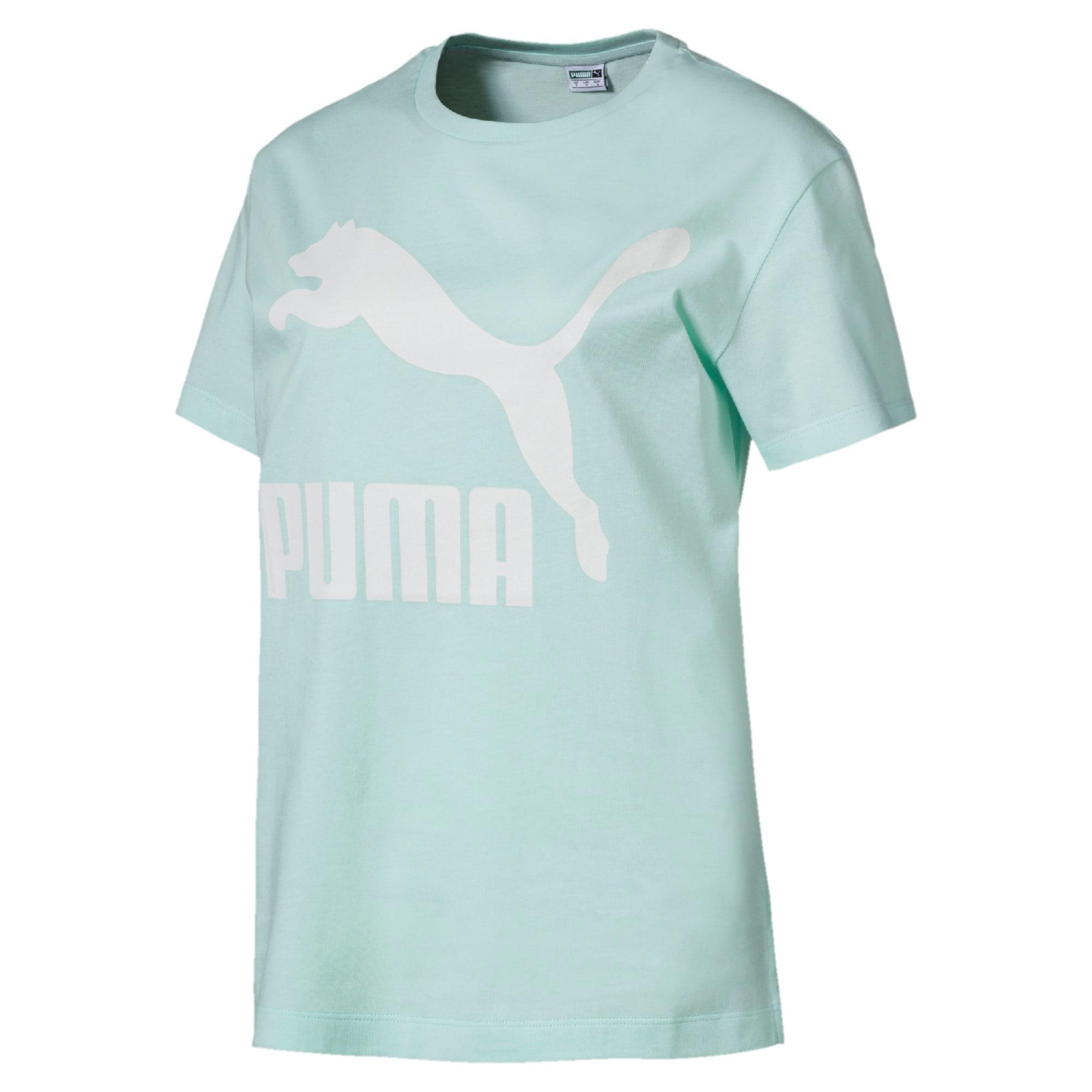 Thumbnail 1 of CLASSICS ロゴ ウィメンズ SS Tシャツ 半袖, Fair Aqua, medium-JPN