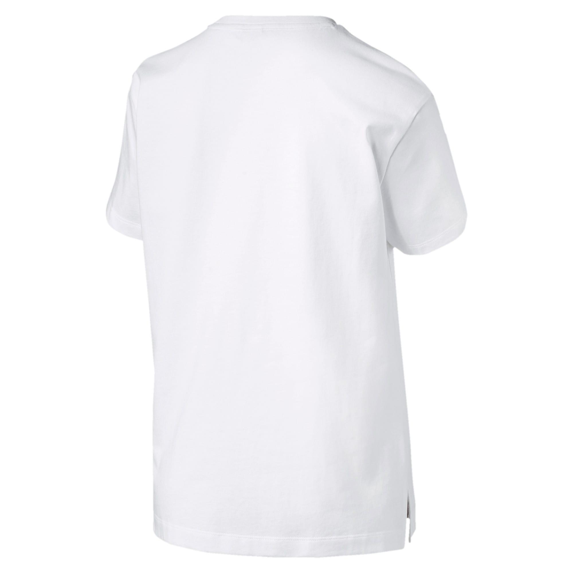 Thumbnail 4 of CLASSICS ロゴ ウィメンズ SS Tシャツ 半袖, Puma White-metal, medium-JPN