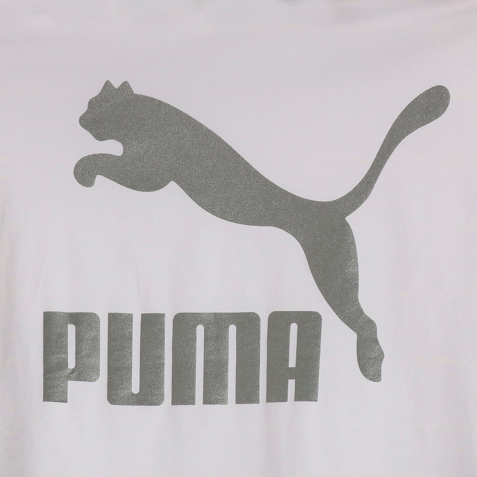Thumbnail 6 of CLASSICS ロゴ ウィメンズ SS Tシャツ 半袖, Puma White-metal, medium-JPN