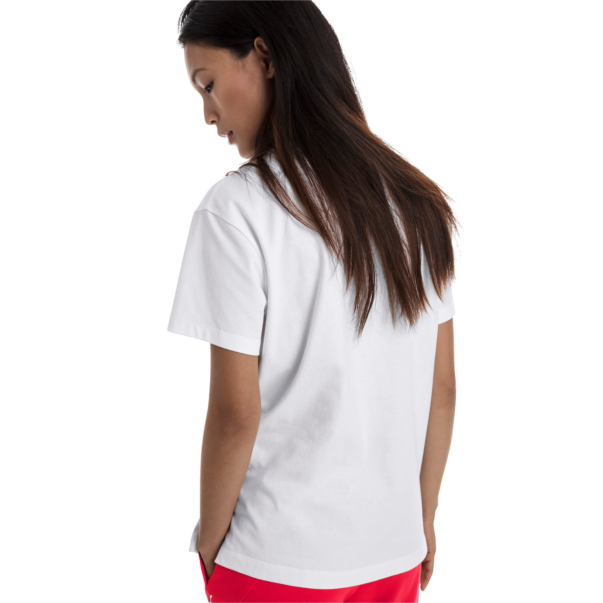 Thumbnail 3 of CLASSICS ロゴ ウィメンズ SS Tシャツ 半袖, Puma White-metal, medium-JPN