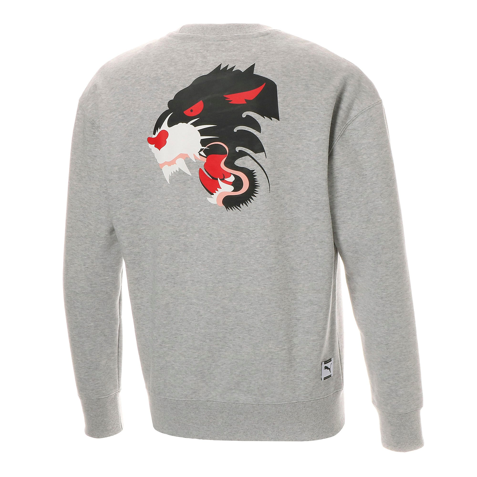 Thumbnail 2 of FIERCE CAT クルースウェット, Light Gray Heather, medium-JPN