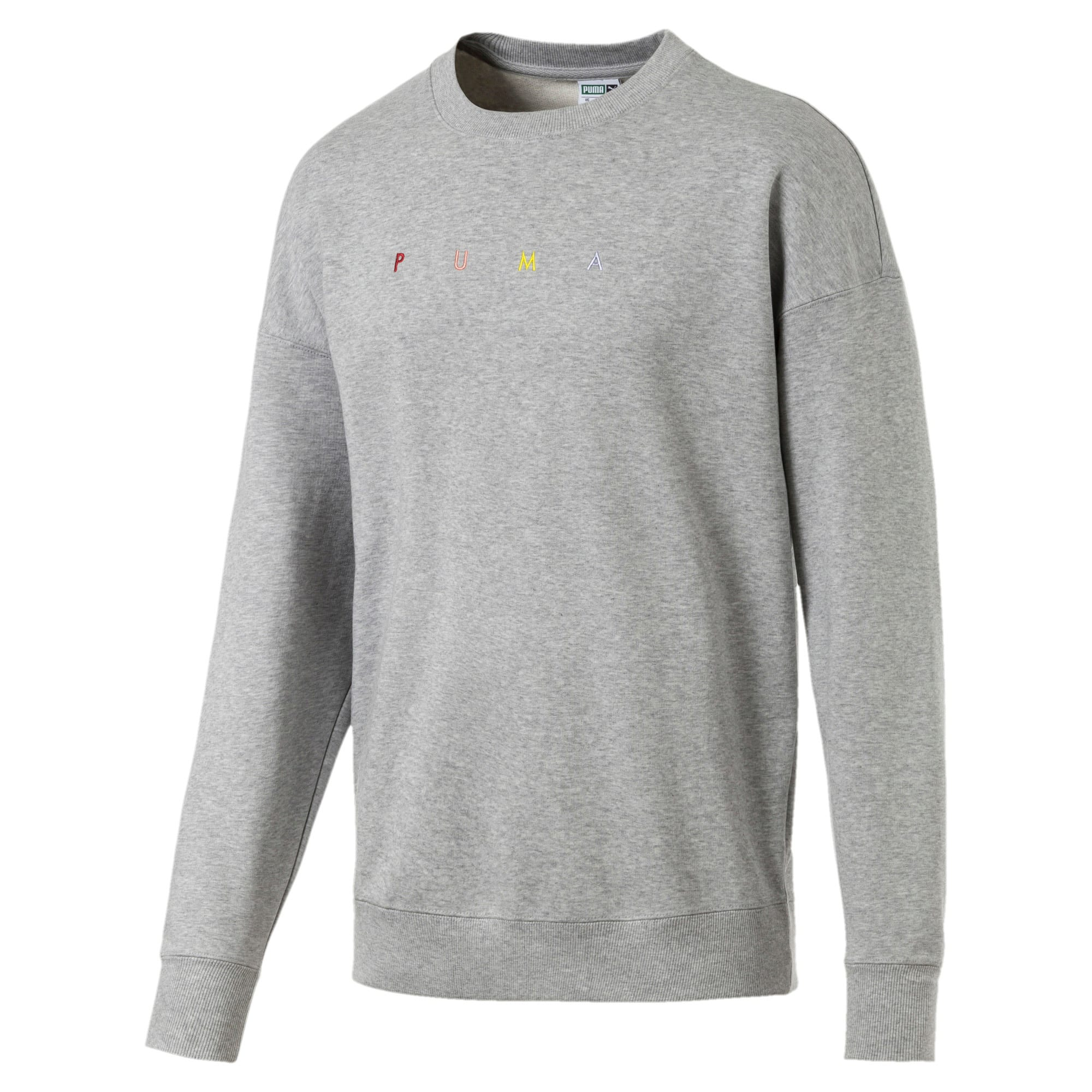 Thumbnail 1 of FIERCE CAT クルースウェット, Light Gray Heather, medium-JPN