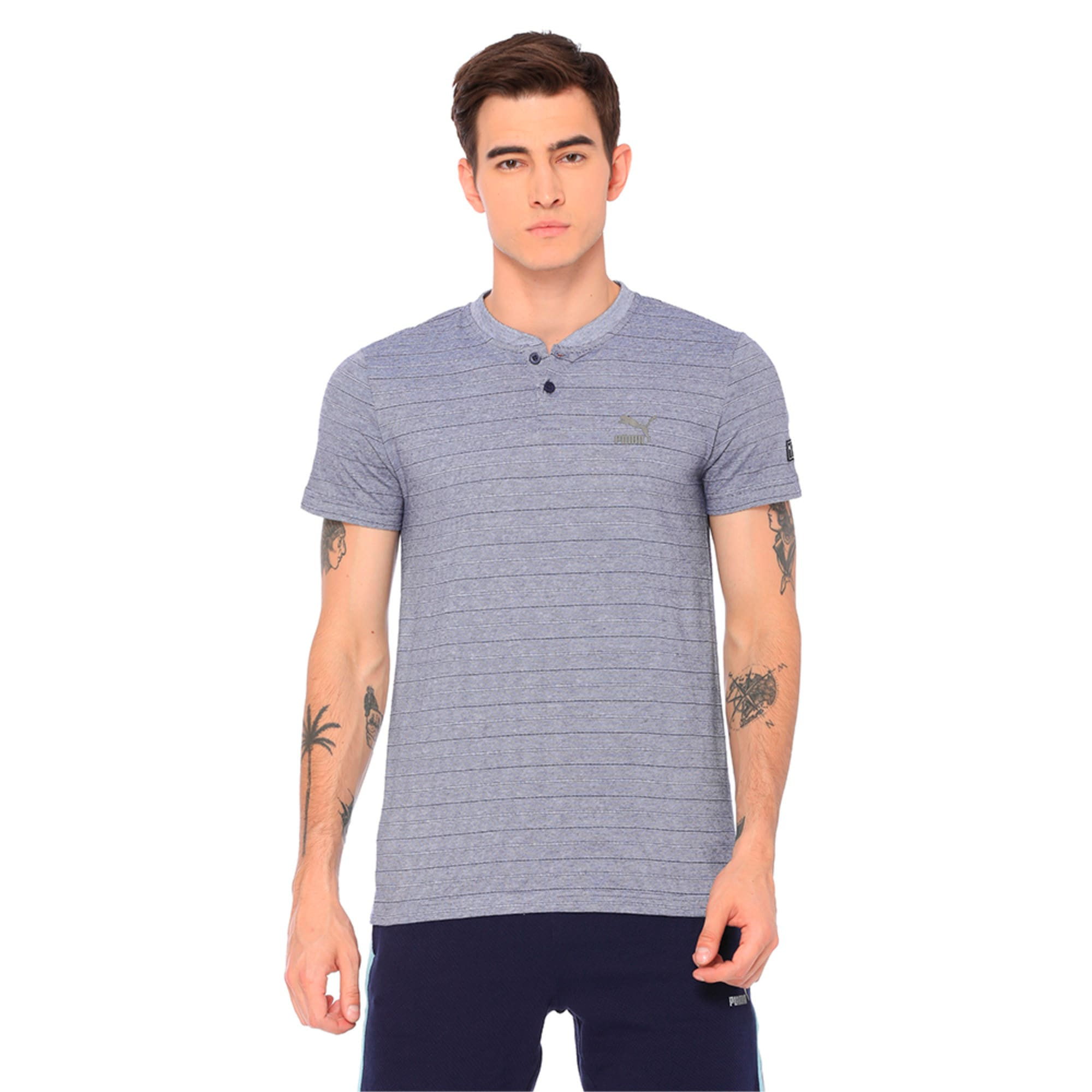 VK Henley Tee, Peacoat, large-IND