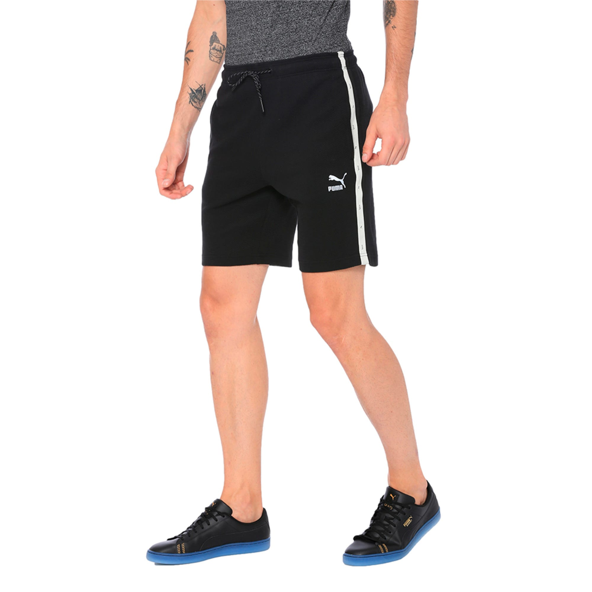 Thumbnail 3 of VK Sweat Shorts, Puma Black, medium-IND