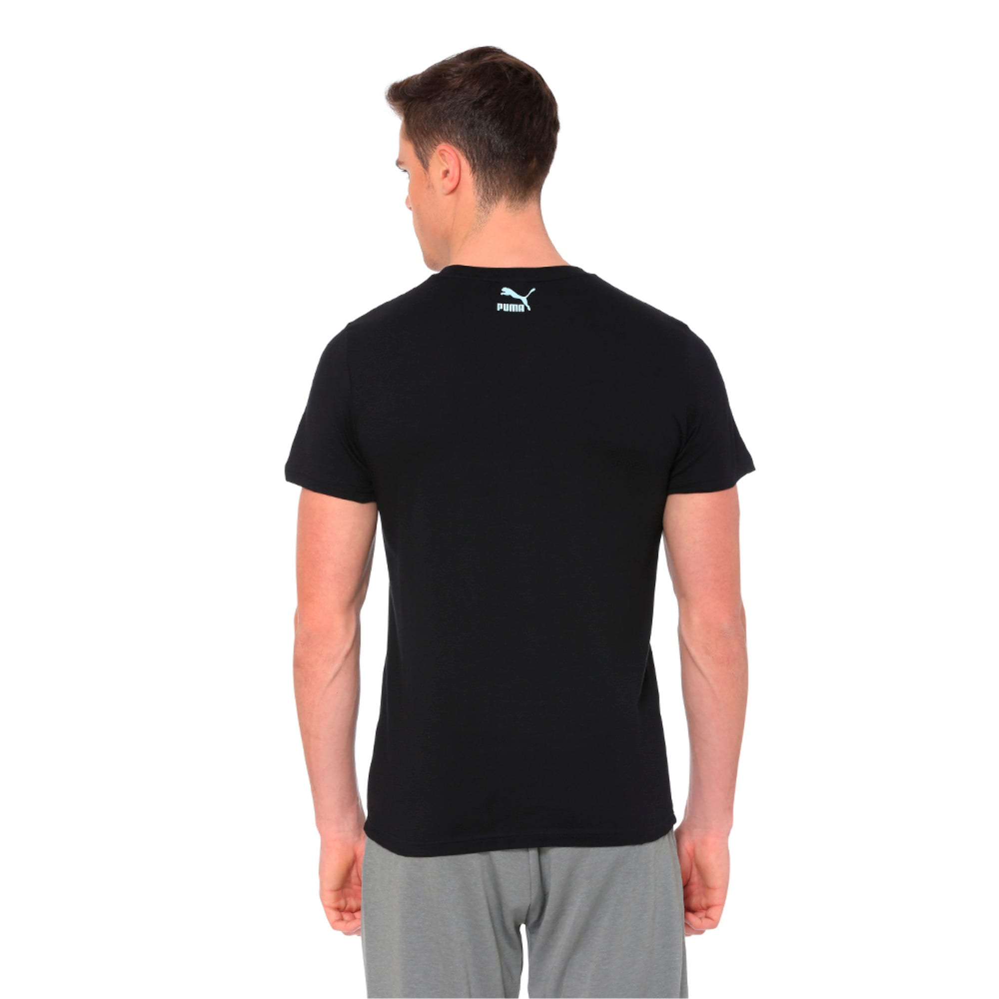 Thumbnail 5 of Graphic Puma Wave Tee, Cotton Black, medium-IND