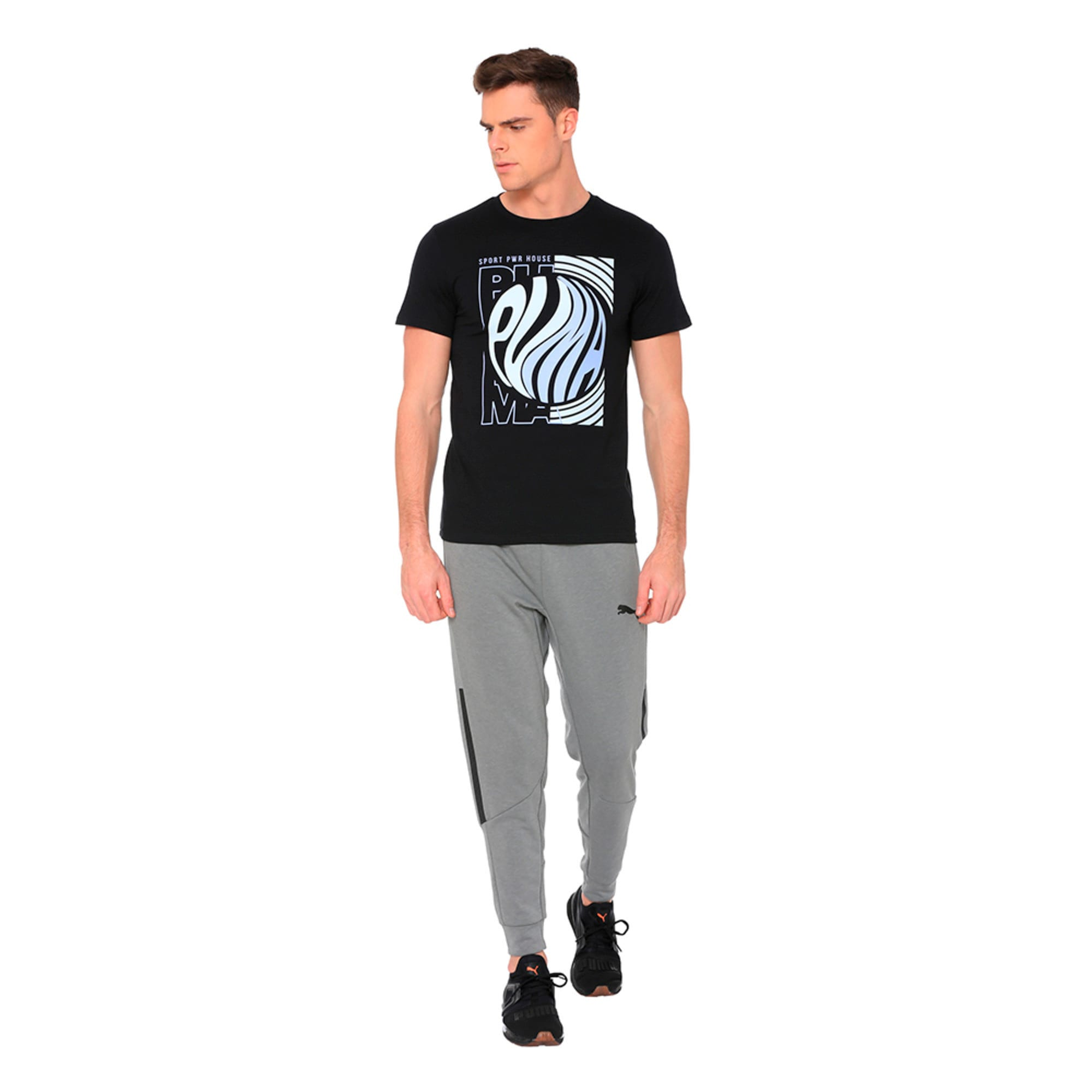 Thumbnail 1 of Graphic Puma Wave Tee, Cotton Black, medium-IND