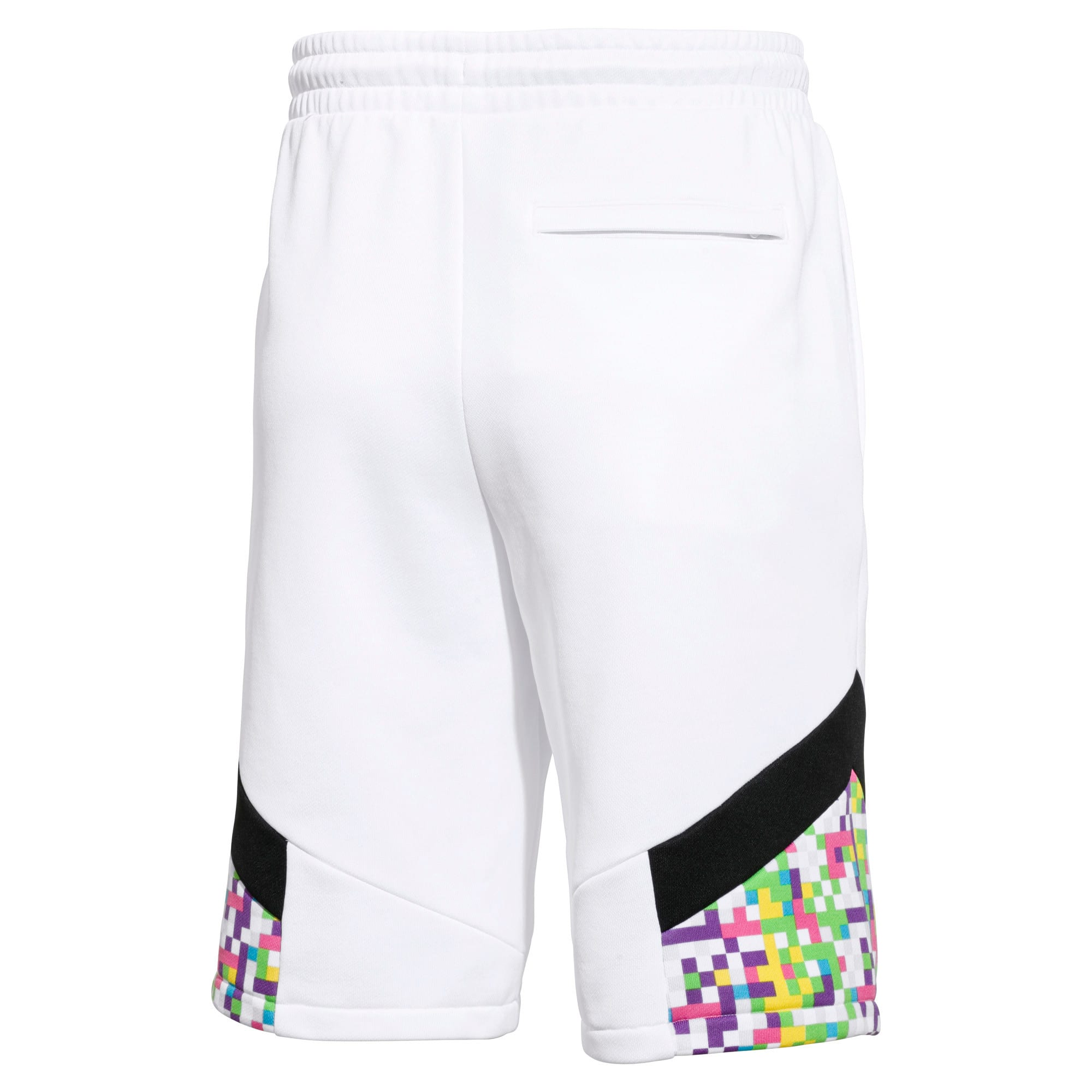 PUMA x MTV MCS All-Over Printed Men's Shorts, Puma White-AOP, large