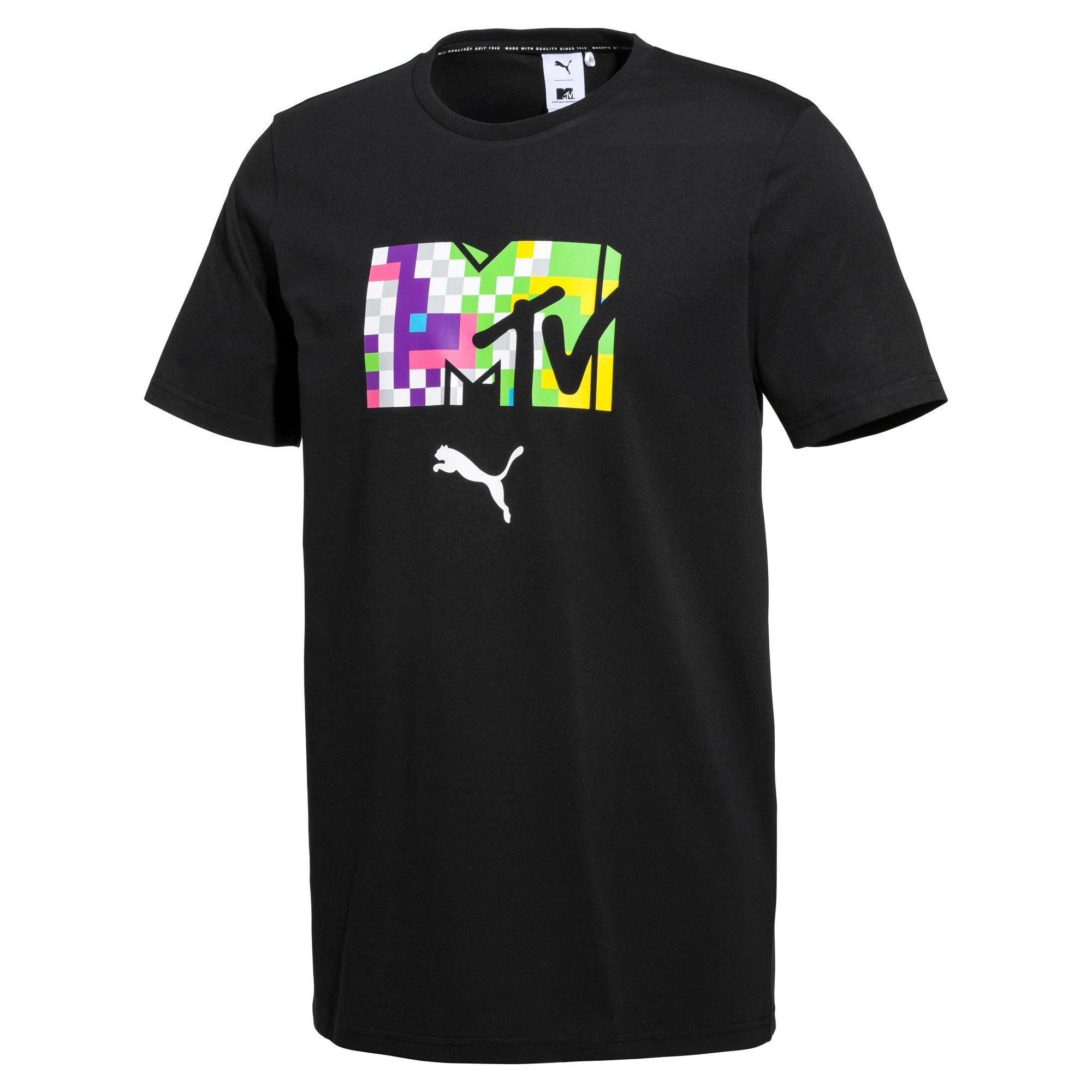 Thumbnail 1 of PUMA x MTV Men's Tee, Puma Black, medium
