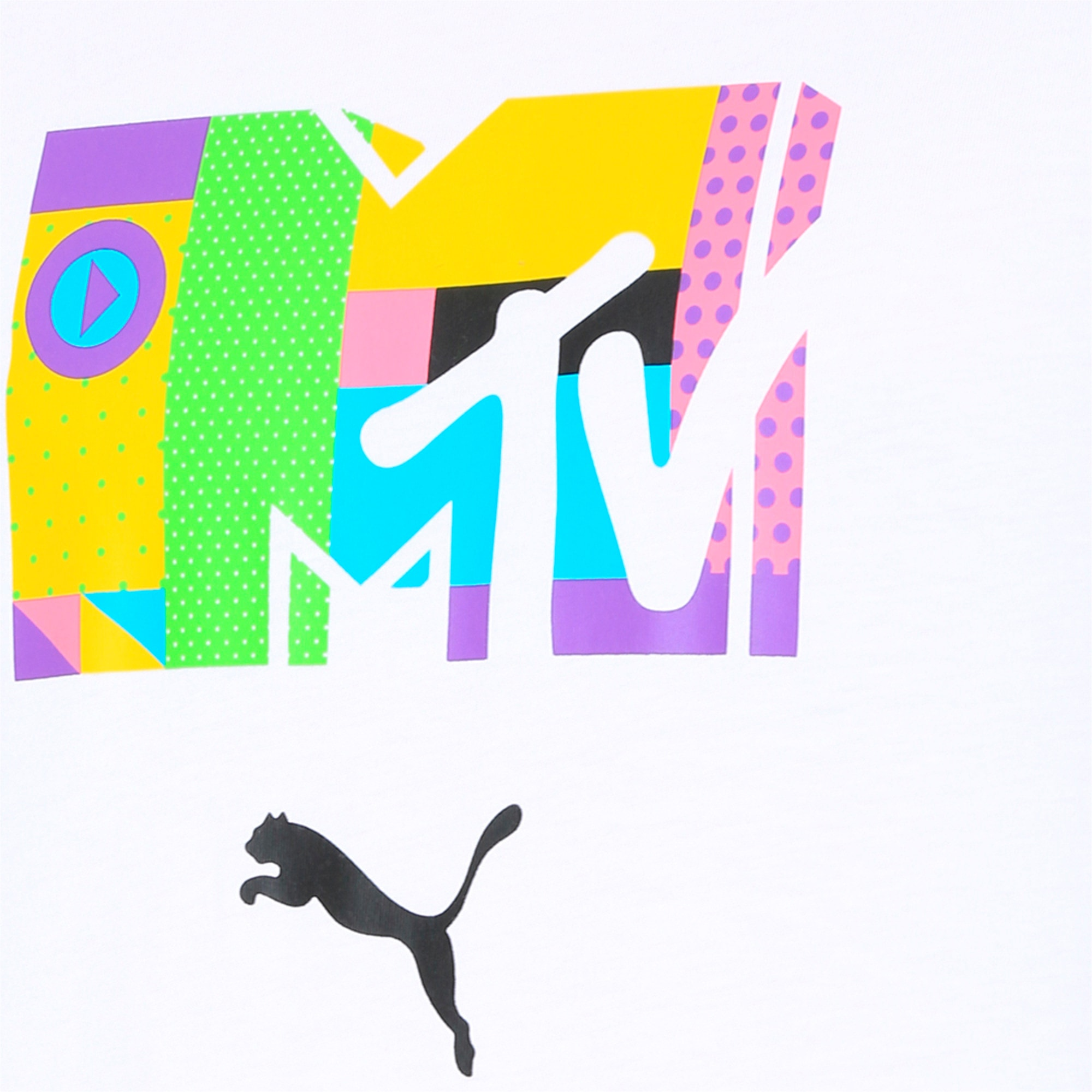 Thumbnail 6 of PUMA x MTV Men's Tee, Puma White, medium-IND