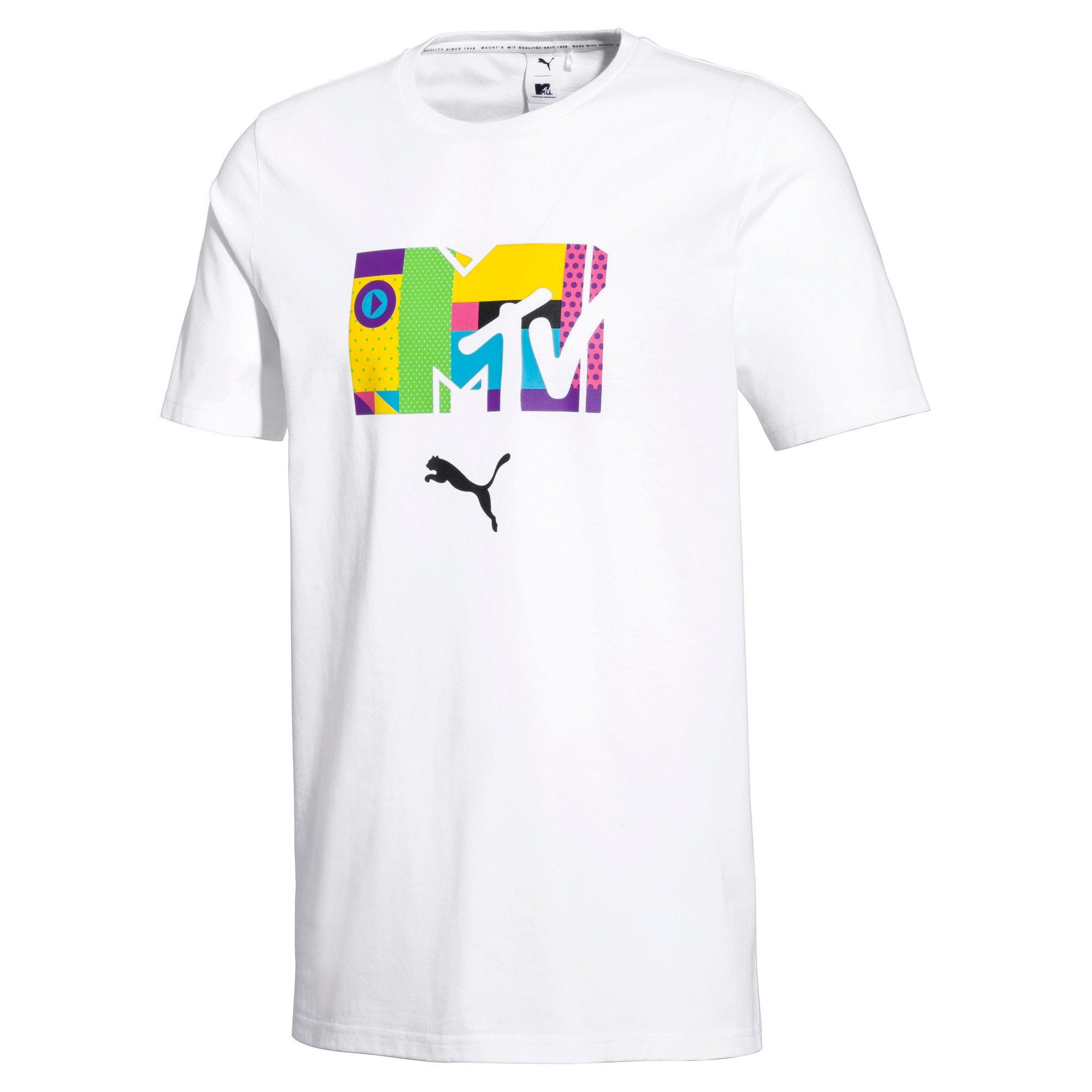 Thumbnail 4 of PUMA x MTV Men's Tee, Puma White, medium-IND