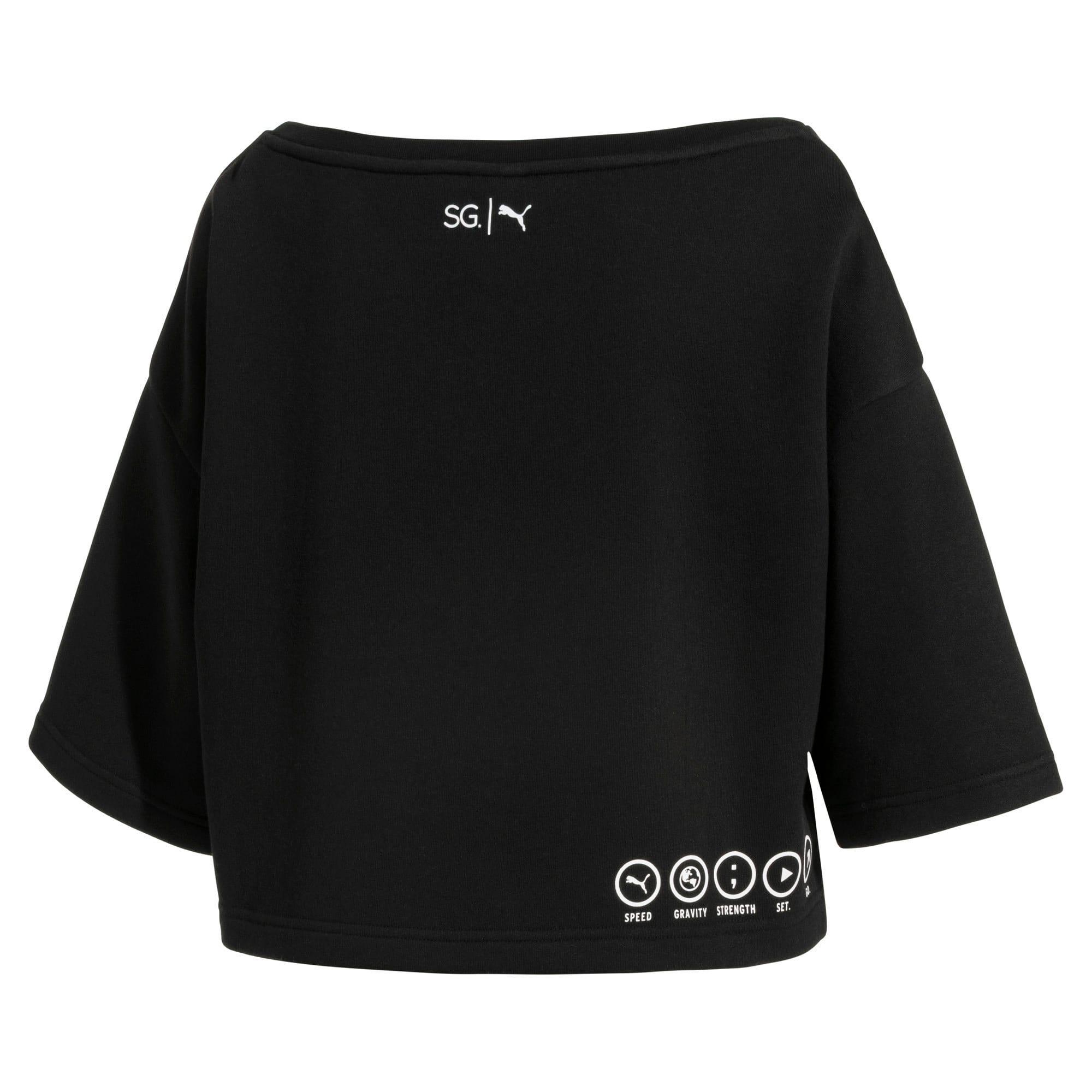 Thumbnail 6 of SG x PUMA ウィメンズ スウェットシャツ, Puma Black, medium-JPN