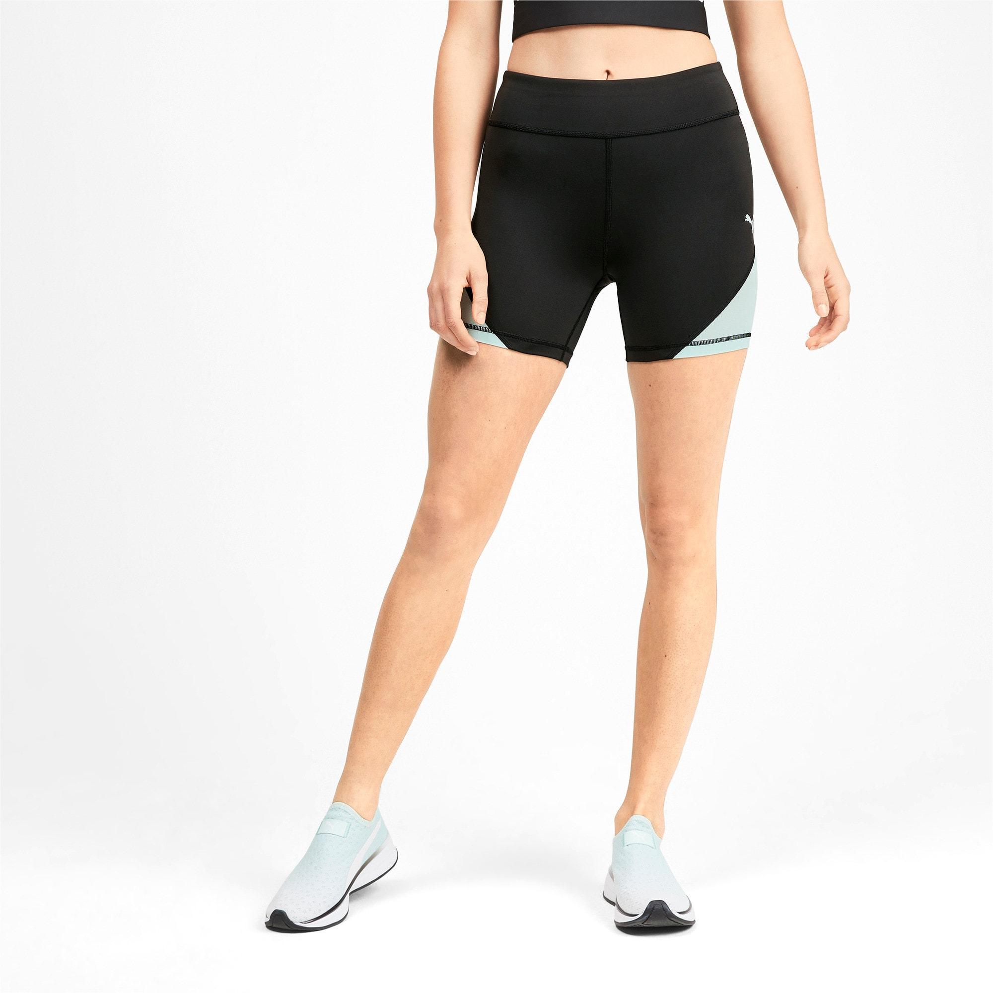 Thumbnail 1 of PUMA x SELENA GOMEZ Women's Short Tights, Puma Black-Fair Aqua, medium