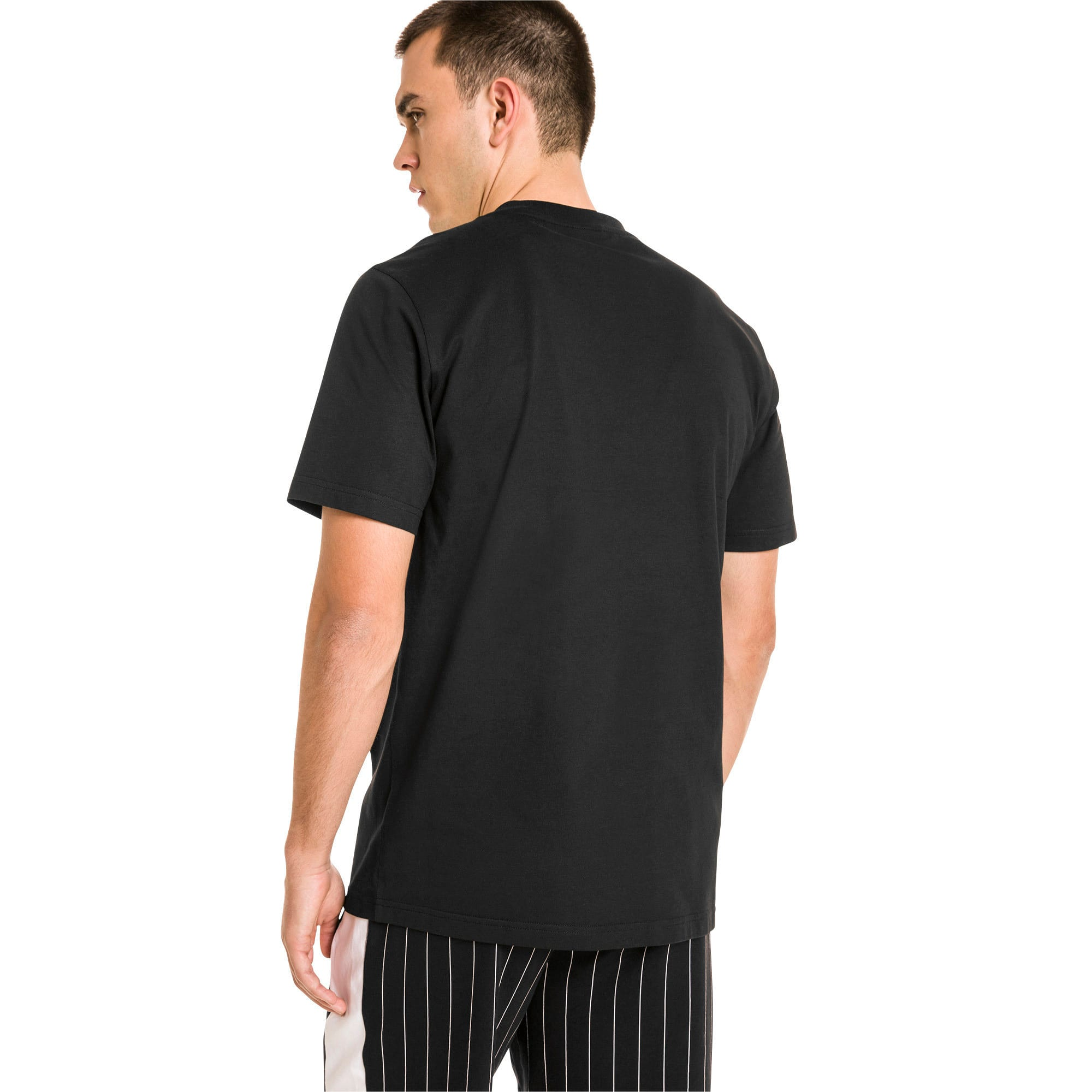 Archive Pinstripe Graphic Men's Tee, Puma Black, large