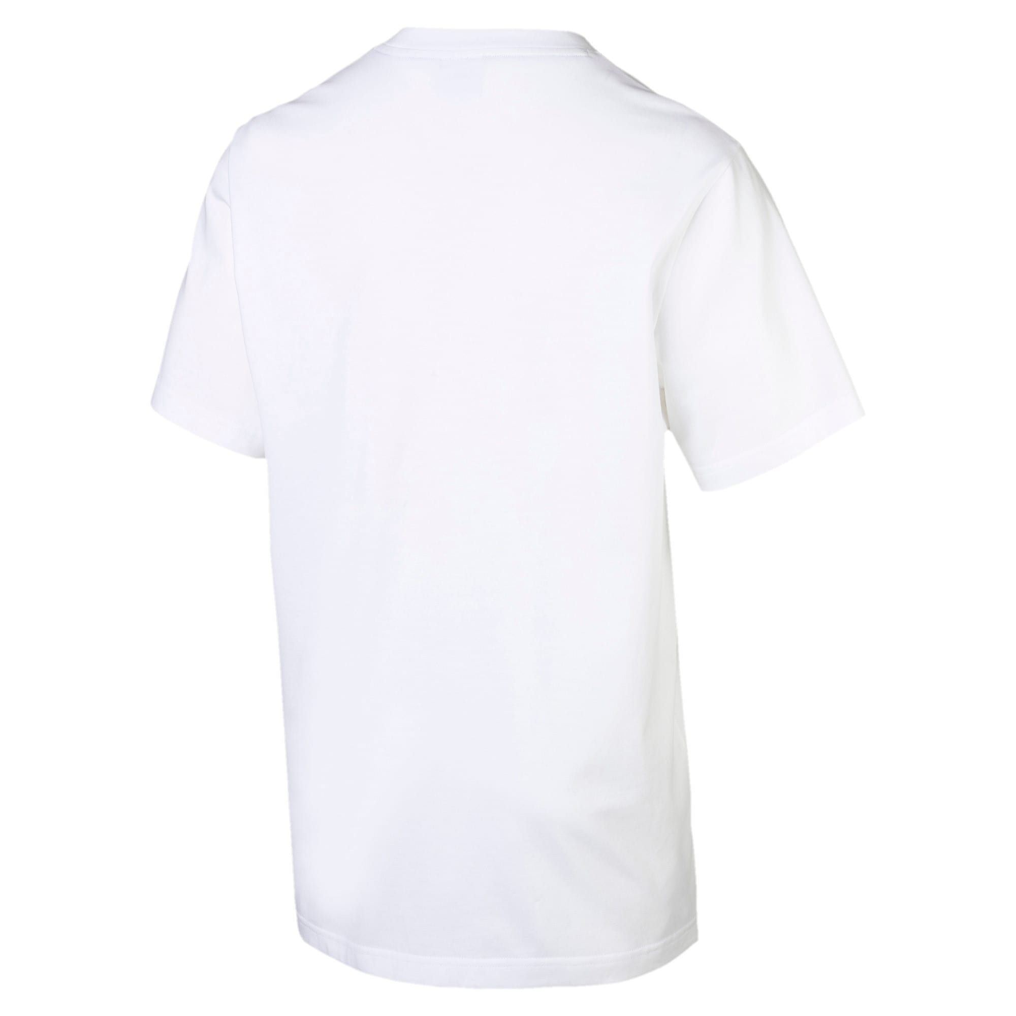 Thumbnail 4 of Archive Pinstripe Graphic Men's Tee, Puma White, medium
