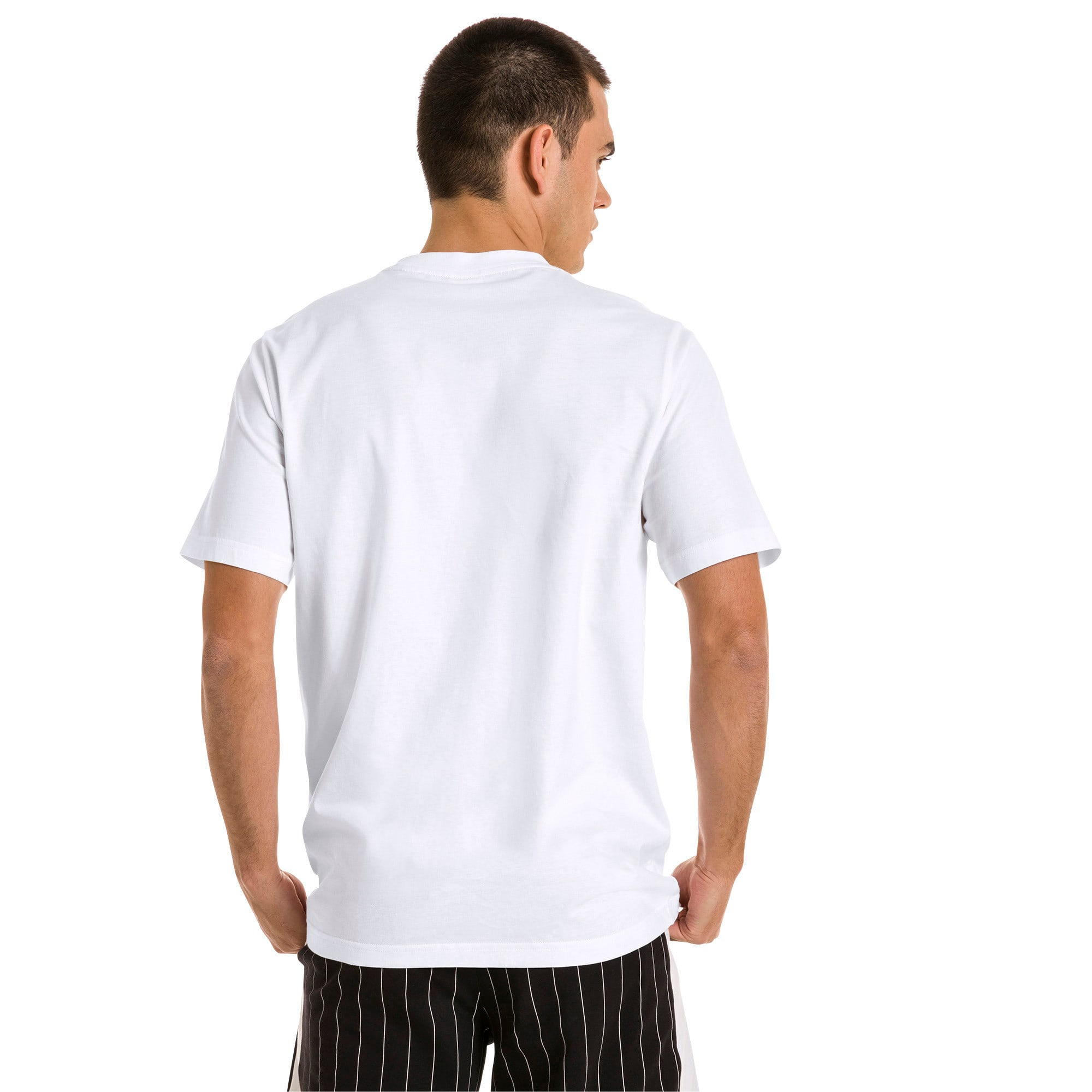 Thumbnail 3 of Archive Pinstripe Graphic Men's Tee, Puma White, medium
