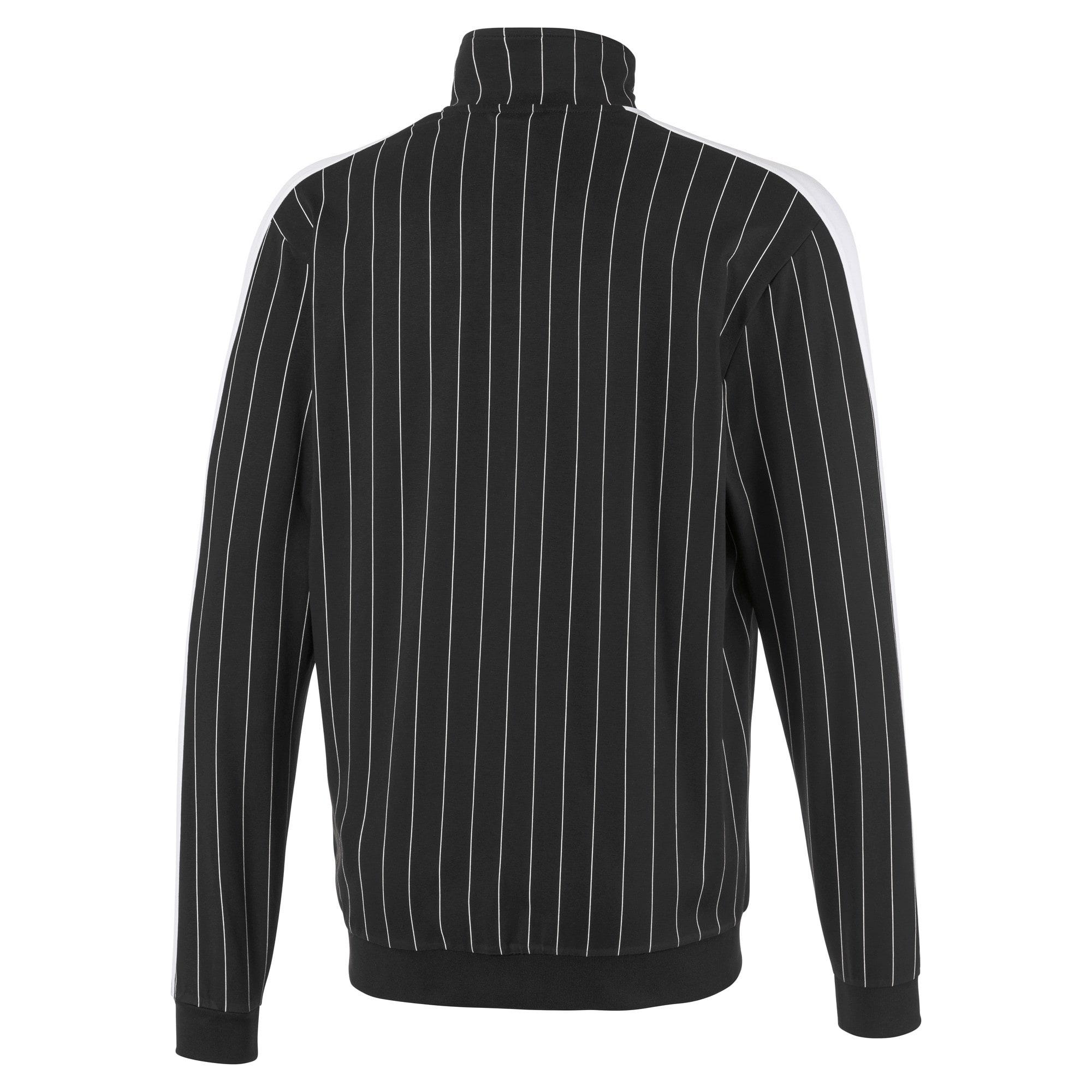 Thumbnail 2 of Archive Pinstripe T7 Men's Track Jacket, Cotton Black, medium