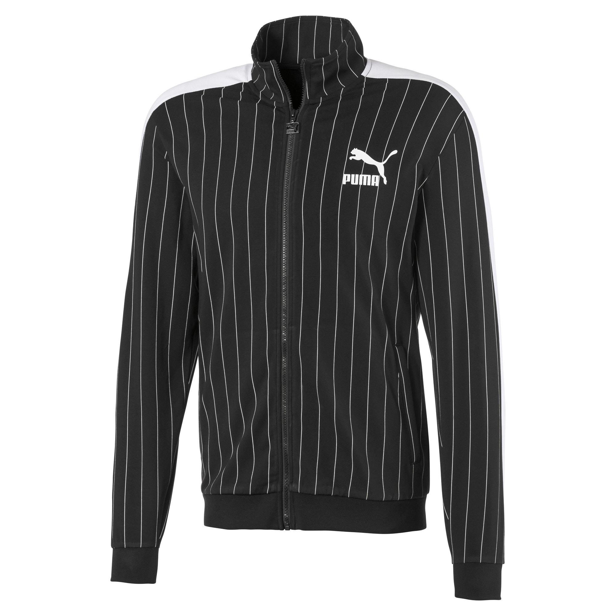 Thumbnail 1 of Archive Pinstripe T7 Men's Track Jacket, Cotton Black, medium